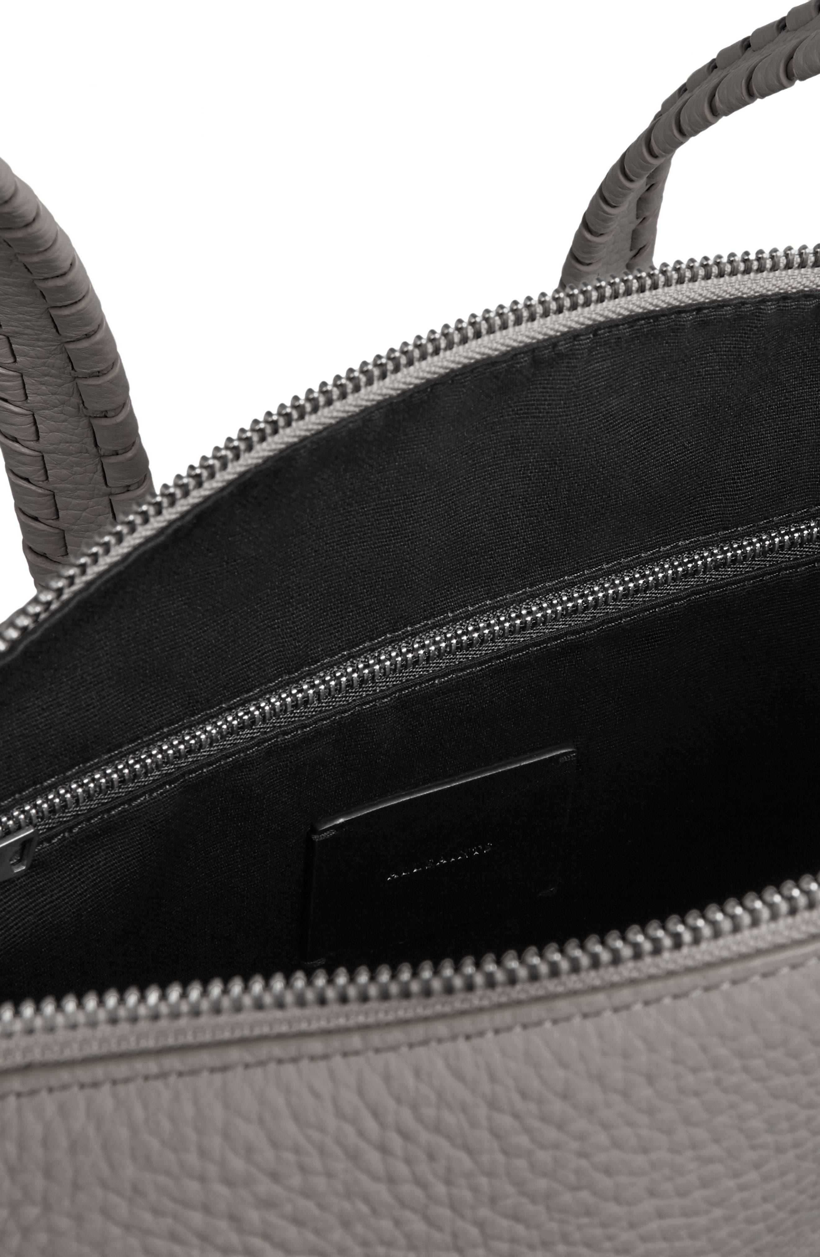 ALLSAINTS, Small Kita Convertible Leather Backpack, Alternate thumbnail 3, color, STORM GREY