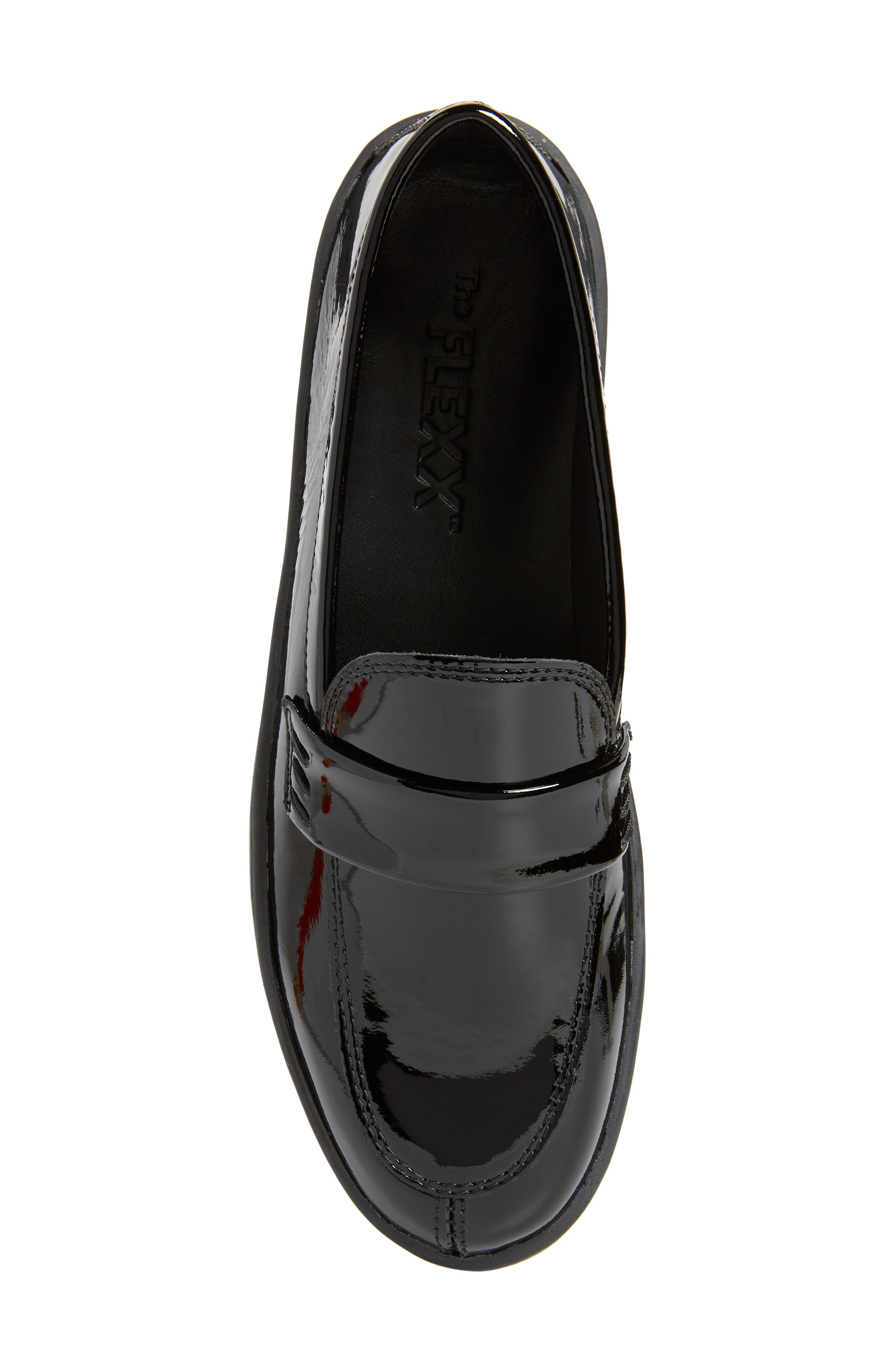 THE FLEXX, No Loaf N Loafer, Alternate thumbnail 5, color, BLACK PATENT LEATHER