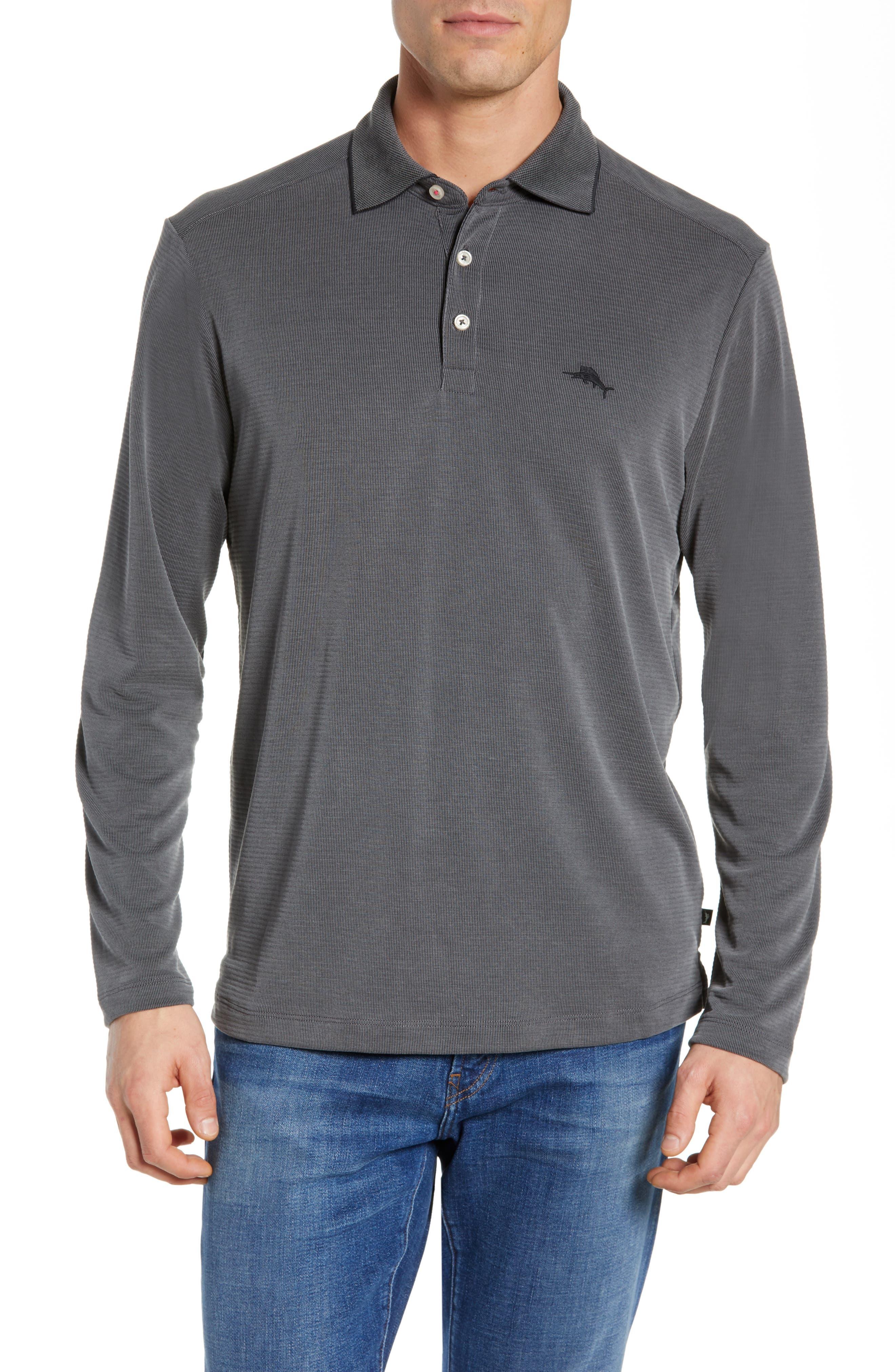 TOMMY BAHAMA, Coastal Crest Regular Fit Polo, Main thumbnail 1, color, BLACK