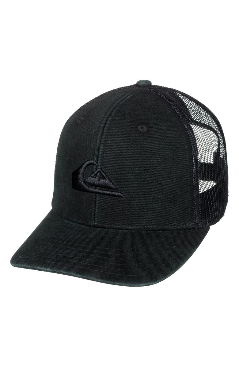 newest 847f2 bf673 QUIKSILVER Grounder Trucker Hat, Main, color, 002