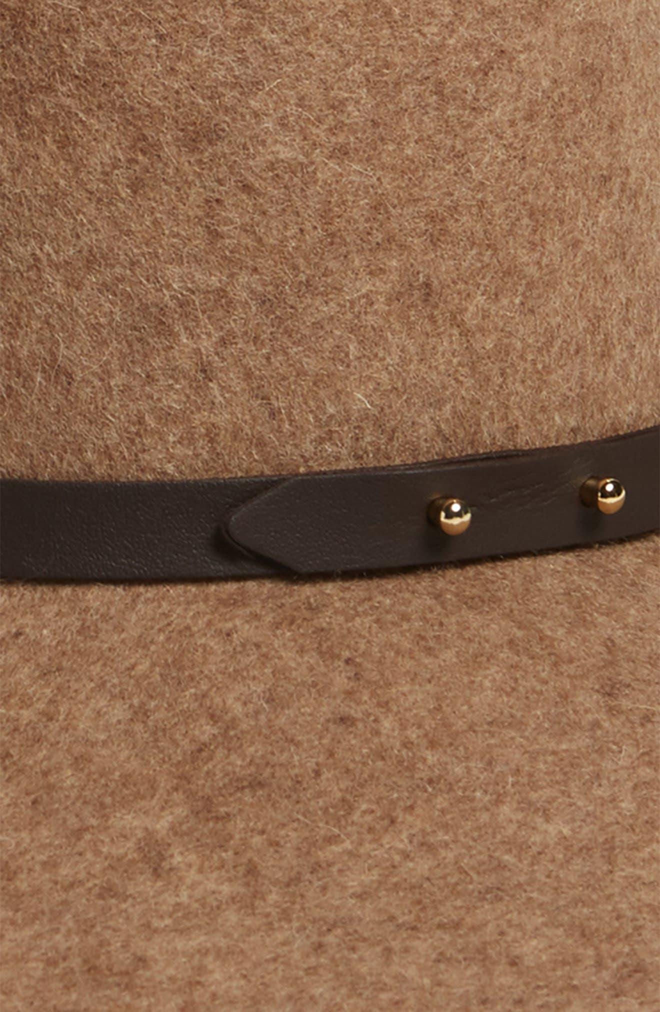 HALOGEN<SUP>®</SUP>, Refined Wide Brim Wool Floppy Hat, Alternate thumbnail 2, color, 235