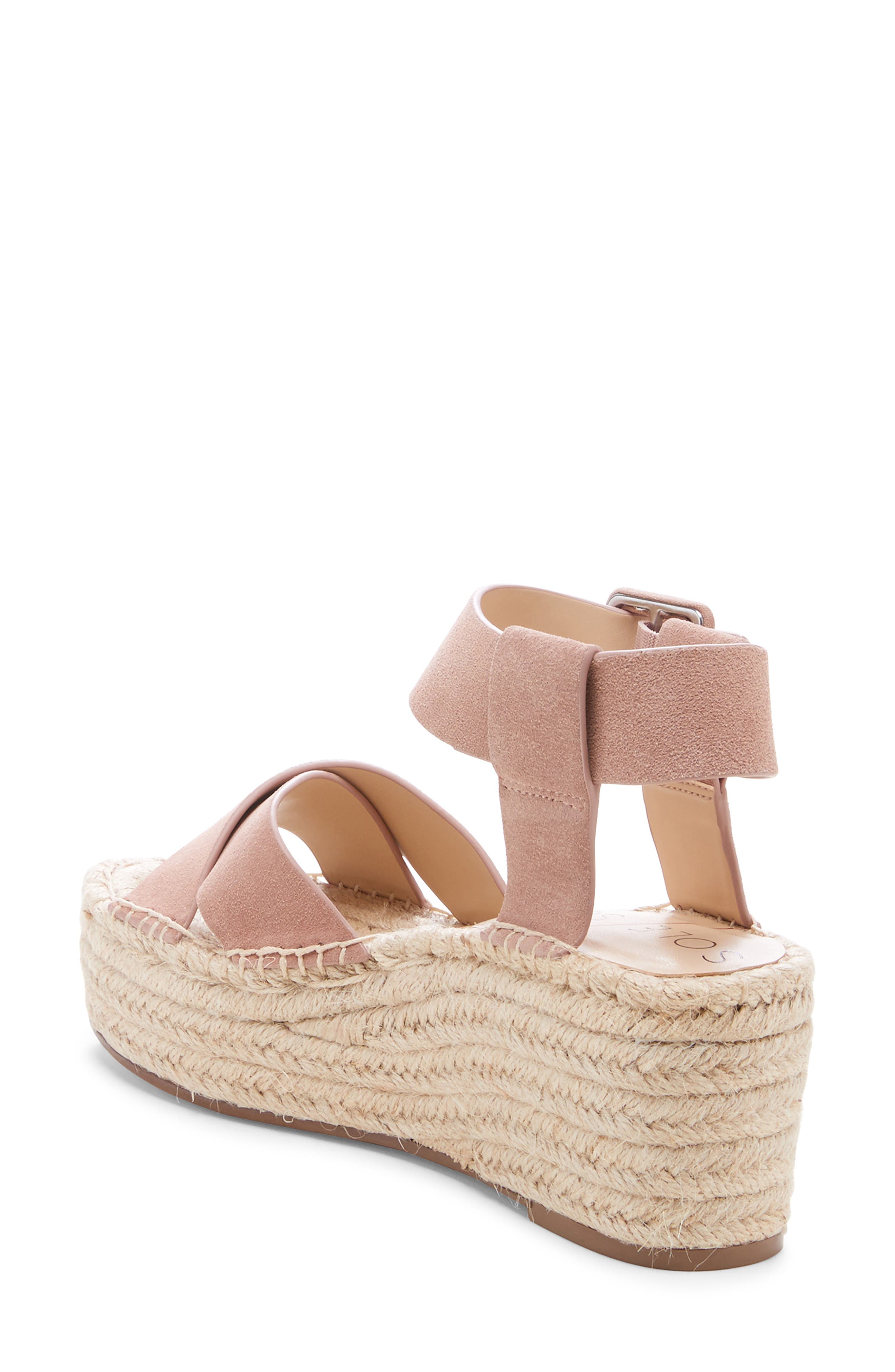 SOLE SOCIETY, Audrina Platform Espadrille Sandal, Alternate thumbnail 2, color, DUSTY ROSE SUEDE