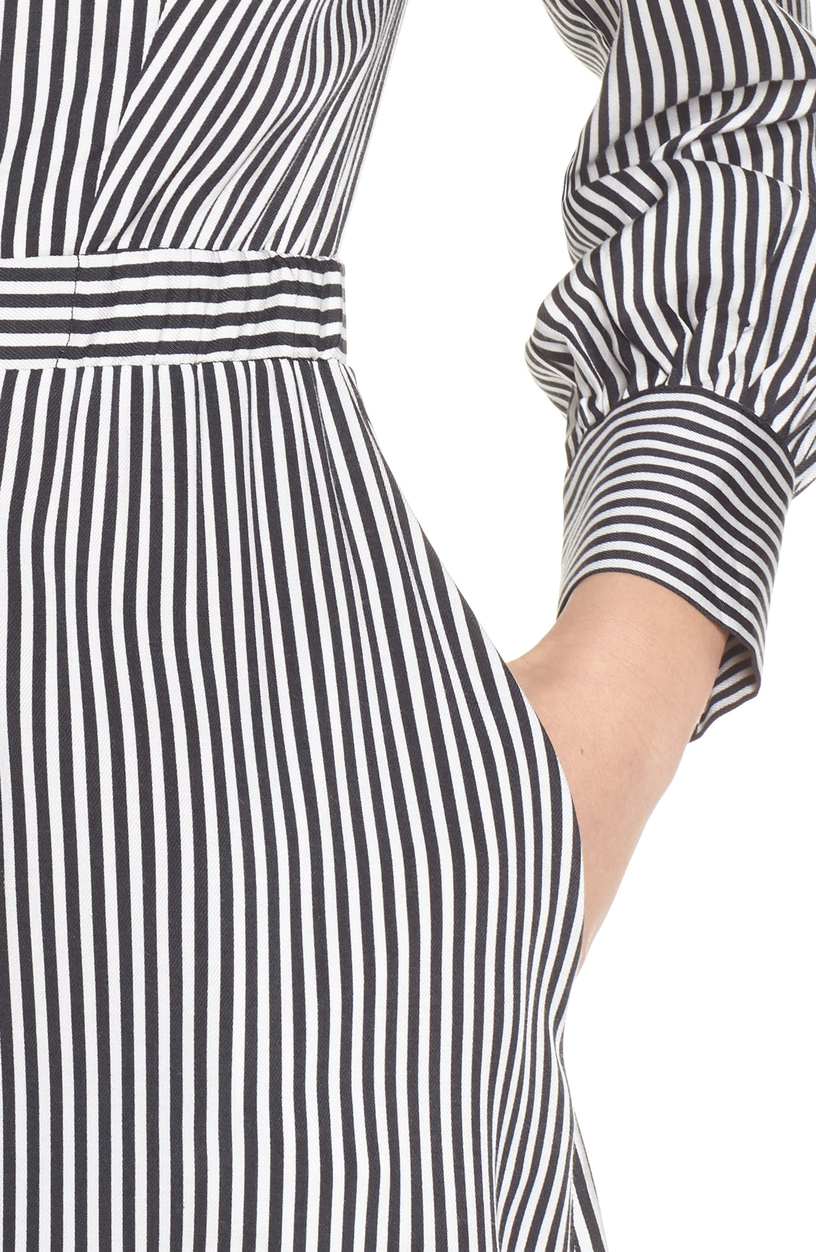 ALI & JAY, Take Me Downtown Stripe Dress, Alternate thumbnail 5, color, 001