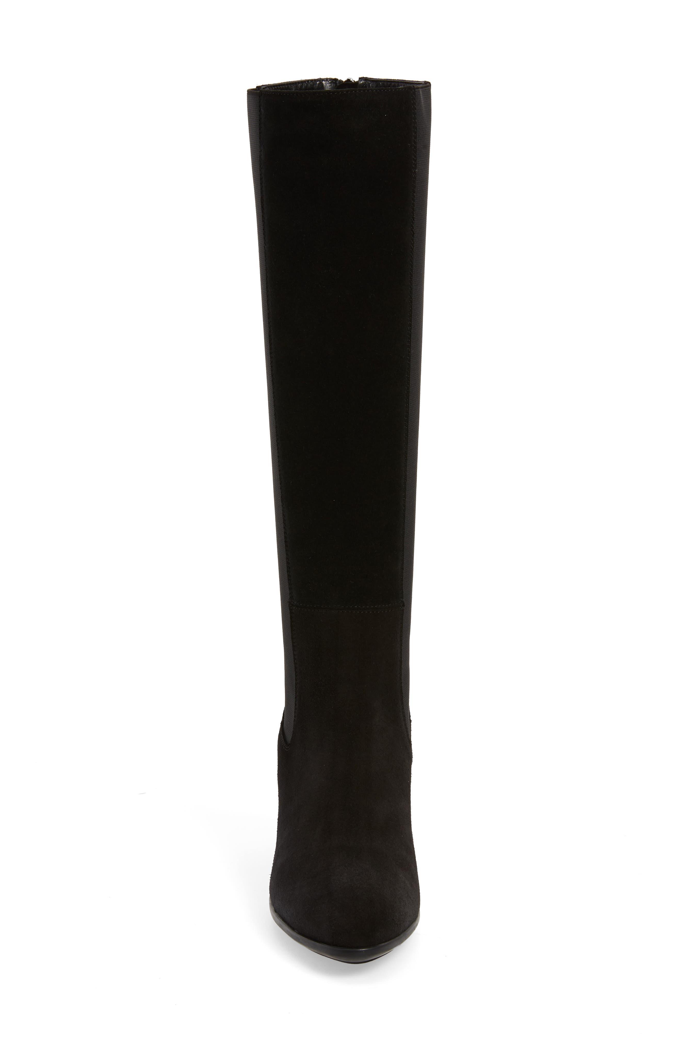 AQUATALIA, Dahliana Weatherproof Knee High Boot, Alternate thumbnail 4, color, BLACK