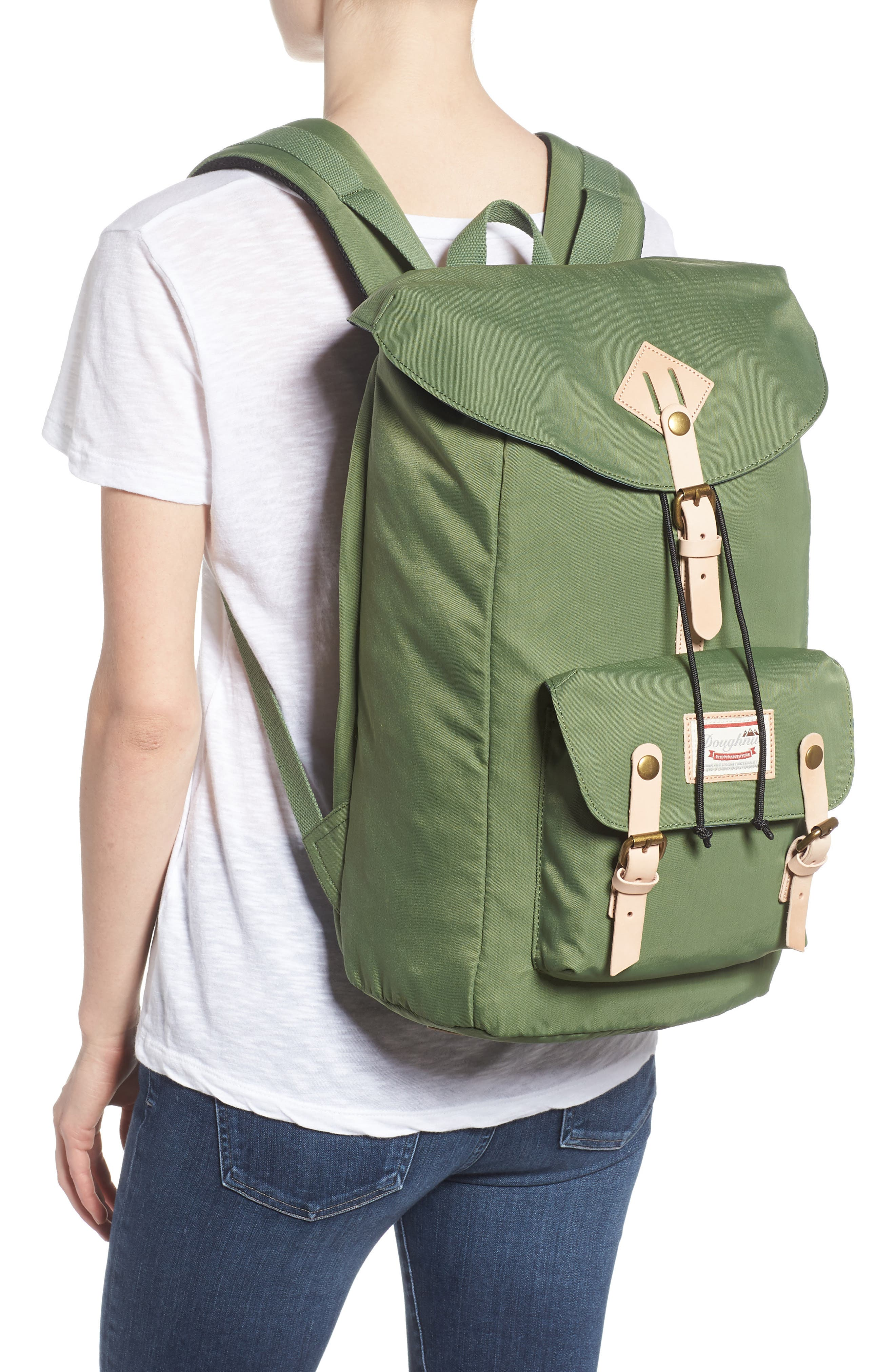 DOUGHNUT, Heritage Water Repellent Backpack, Alternate thumbnail 2, color, ARMY