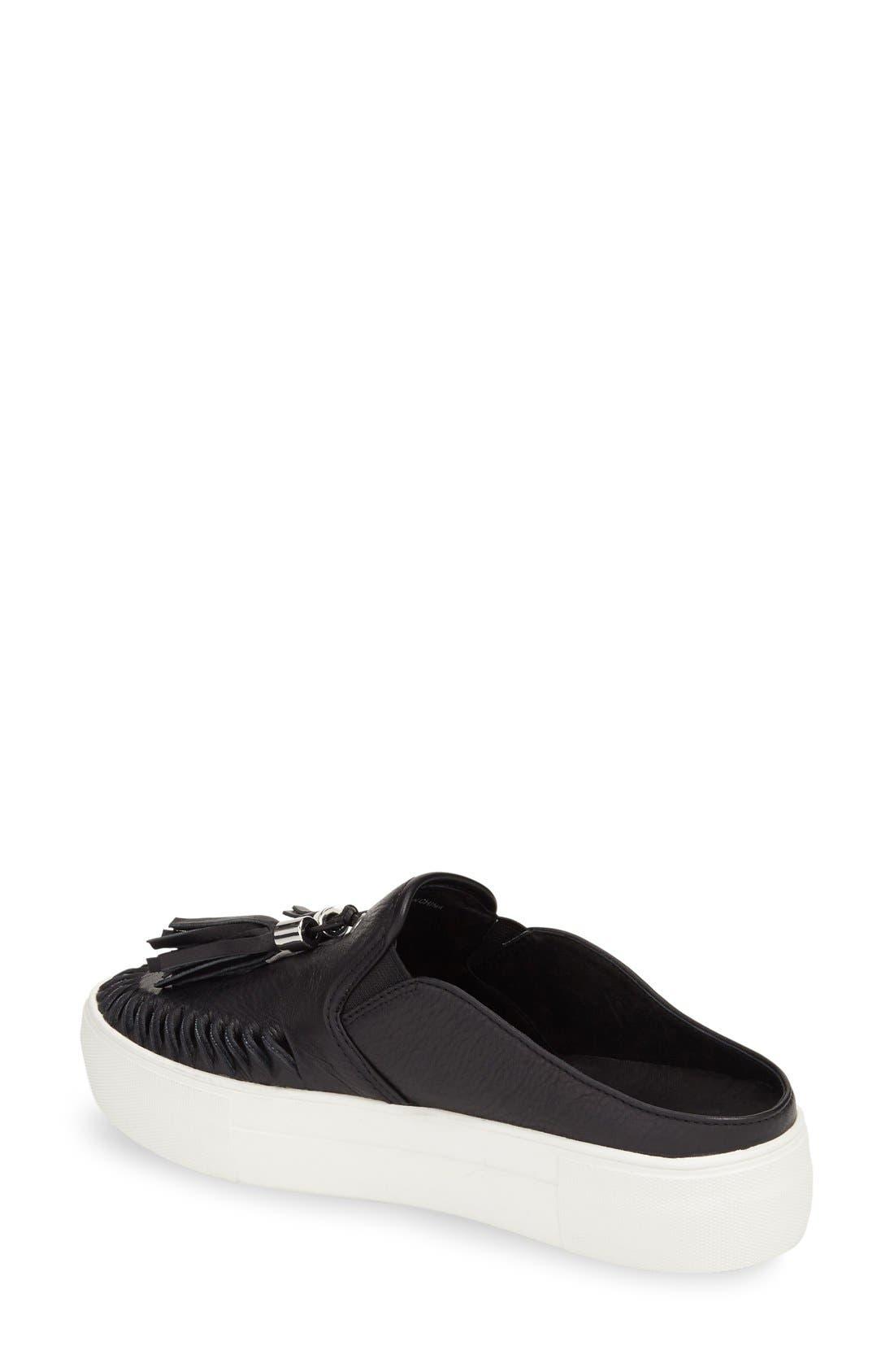 JSLIDES, Tassel Slip-On Sneaker, Alternate thumbnail 3, color, 015
