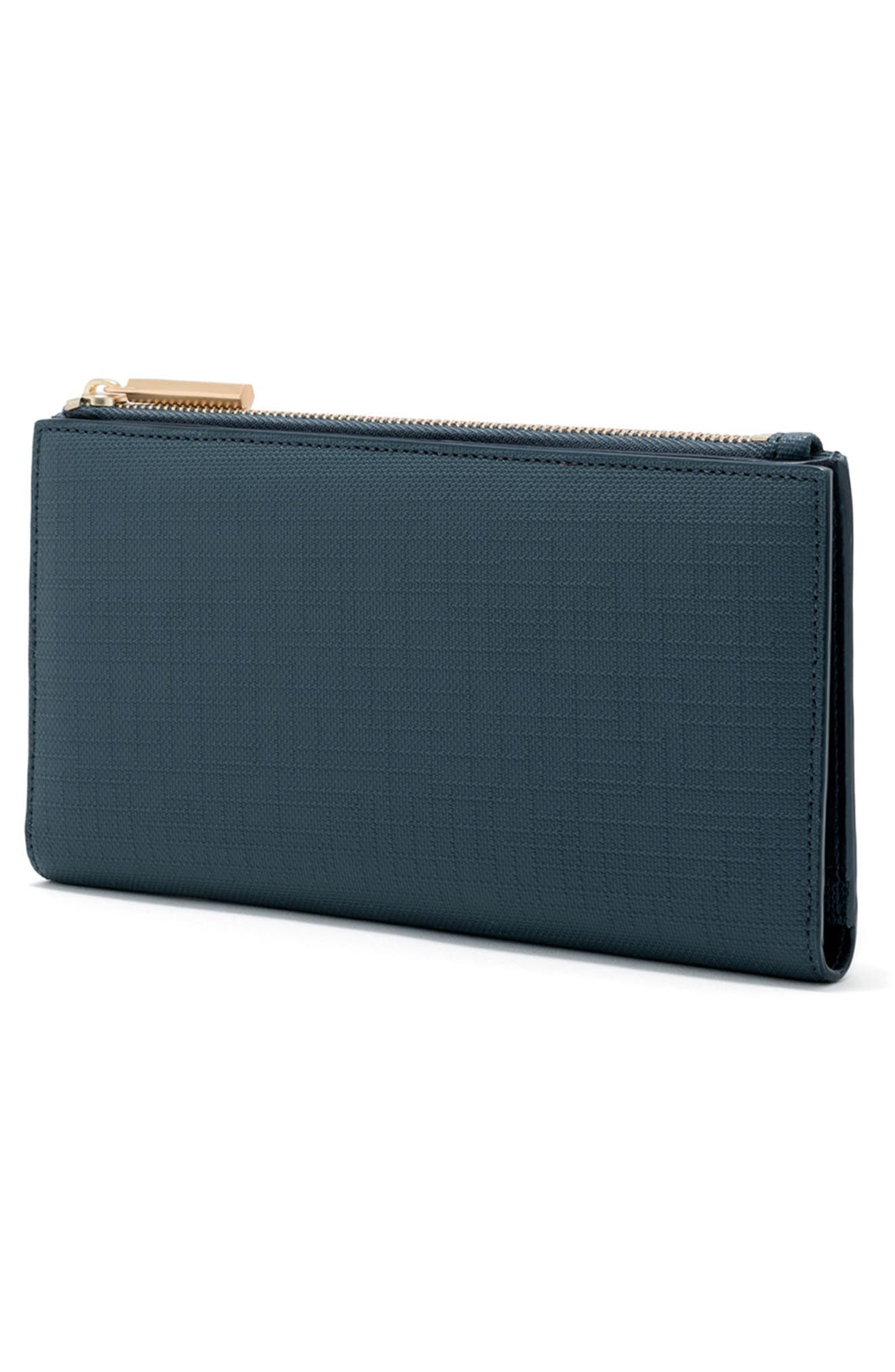 DAGNE DOVER, Signature Slim Coated Canvas Wallet, Alternate thumbnail 4, color, BLEECKER BLUSH