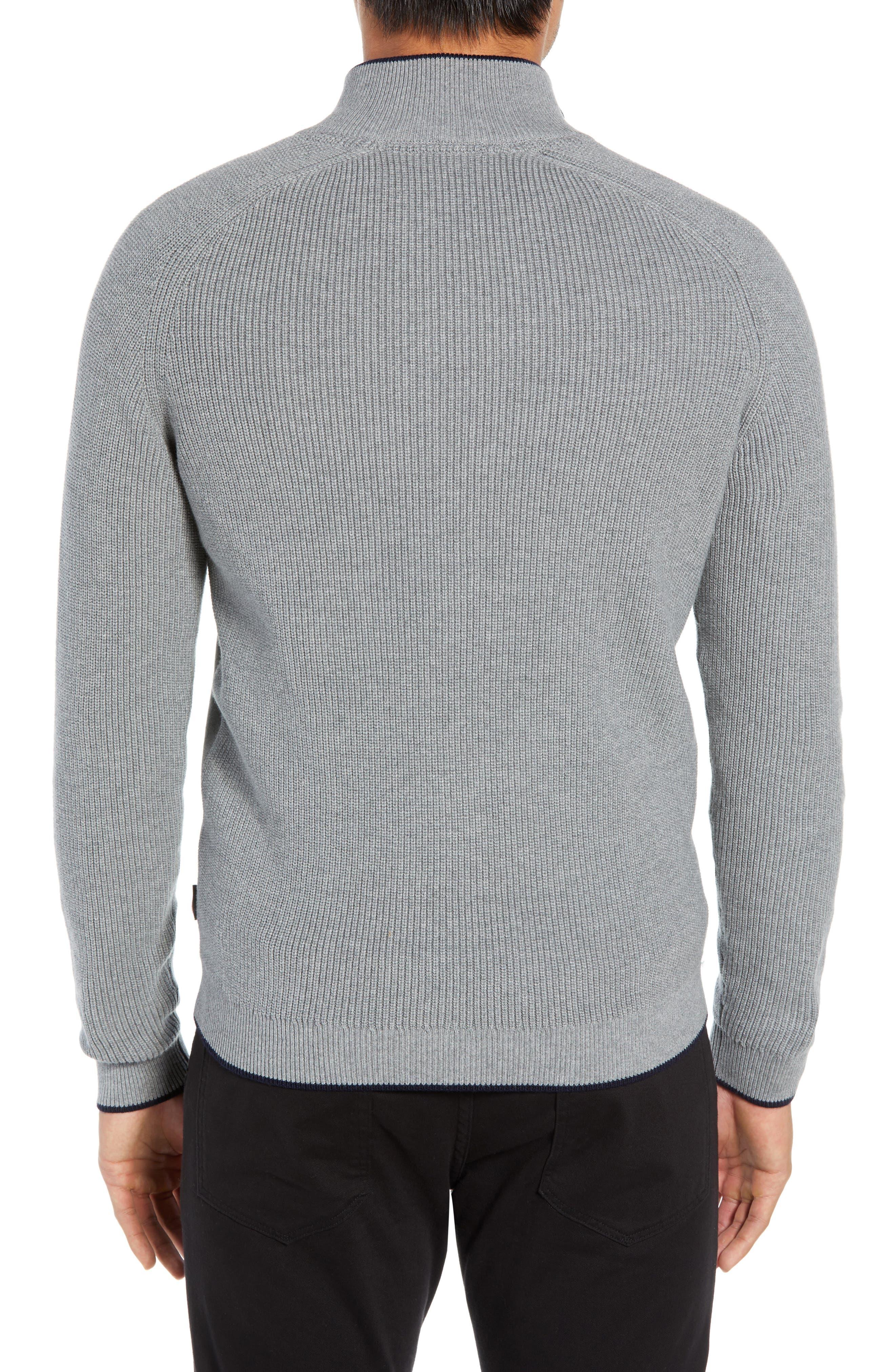 TED BAKER LONDON, Patrik Slim Fit Zip Sweater, Alternate thumbnail 2, color, 031