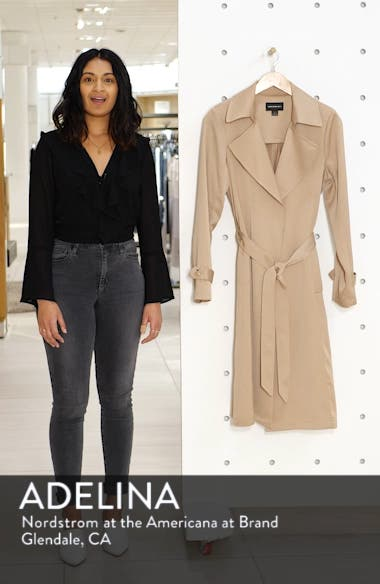 Pleat Back Trench Coat, sales video thumbnail