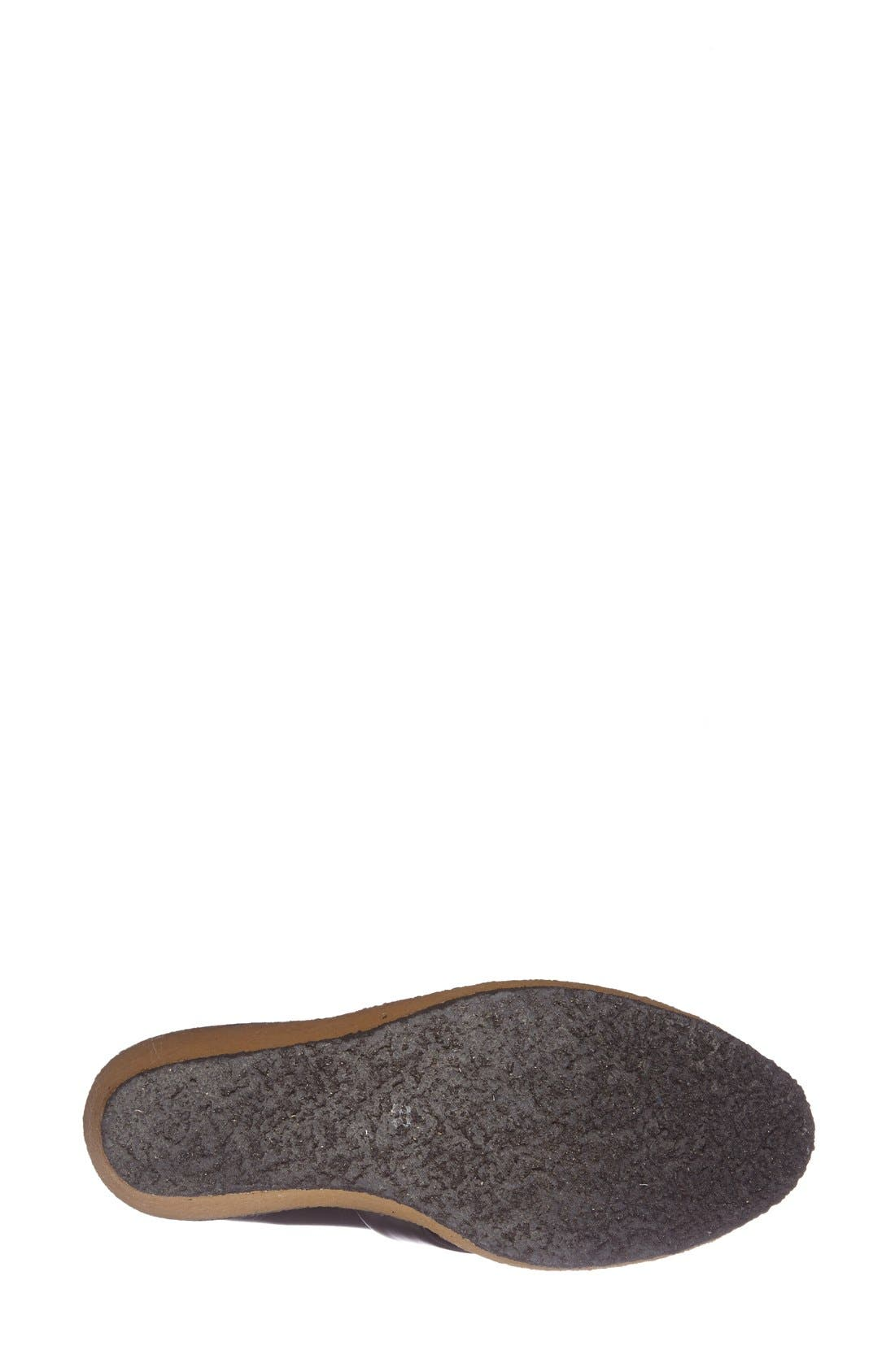 ROBERT CLERGERIE, 'Astrid' Wedge Loafer, Alternate thumbnail 4, color, 001