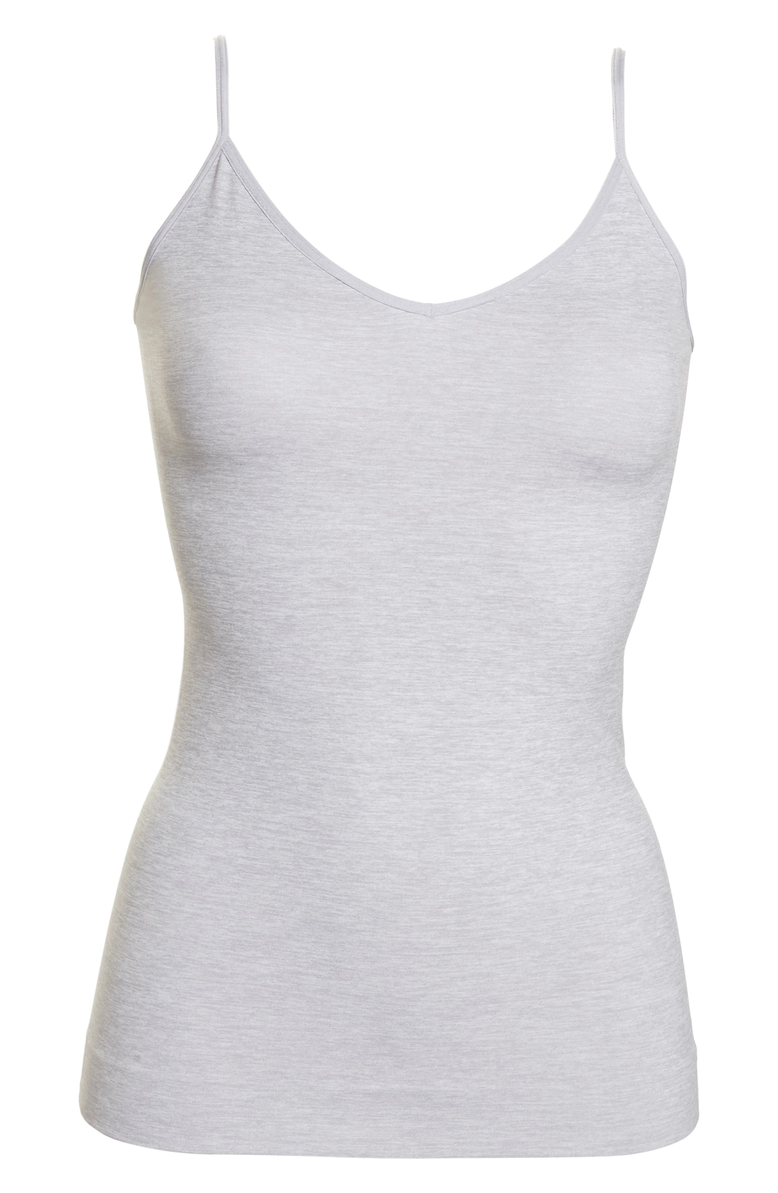 HALOGEN<SUP>®</SUP>, Seamless Two-Way Camisole, Alternate thumbnail 7, color, GREY ALLOY