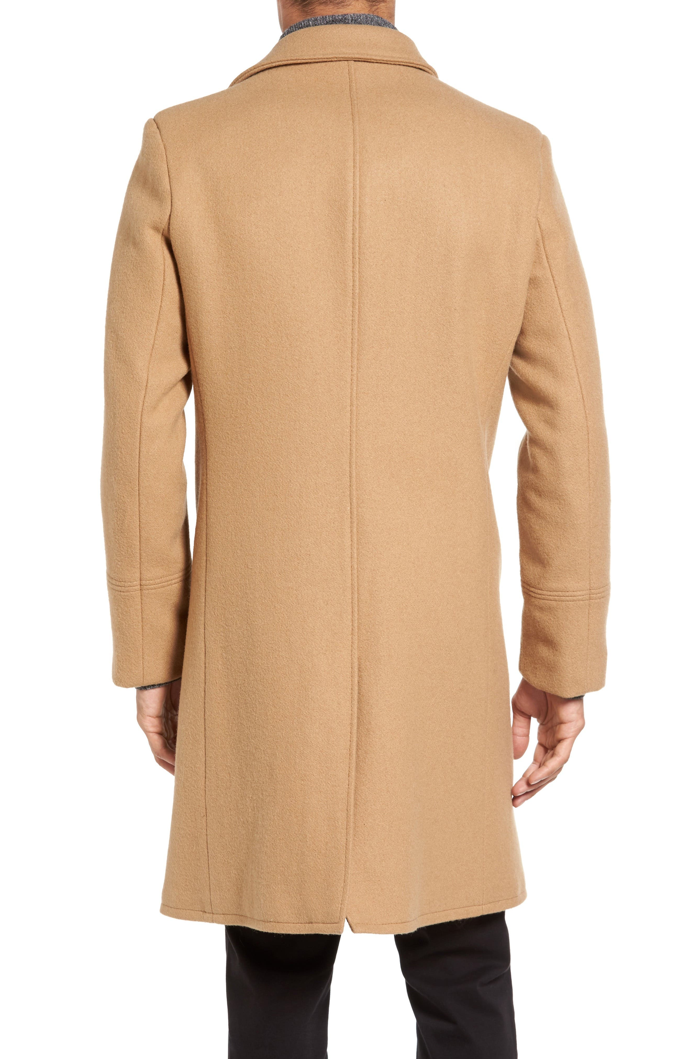 SCHOTT NYC, Wool Blend Officer's Coat, Alternate thumbnail 2, color, 200