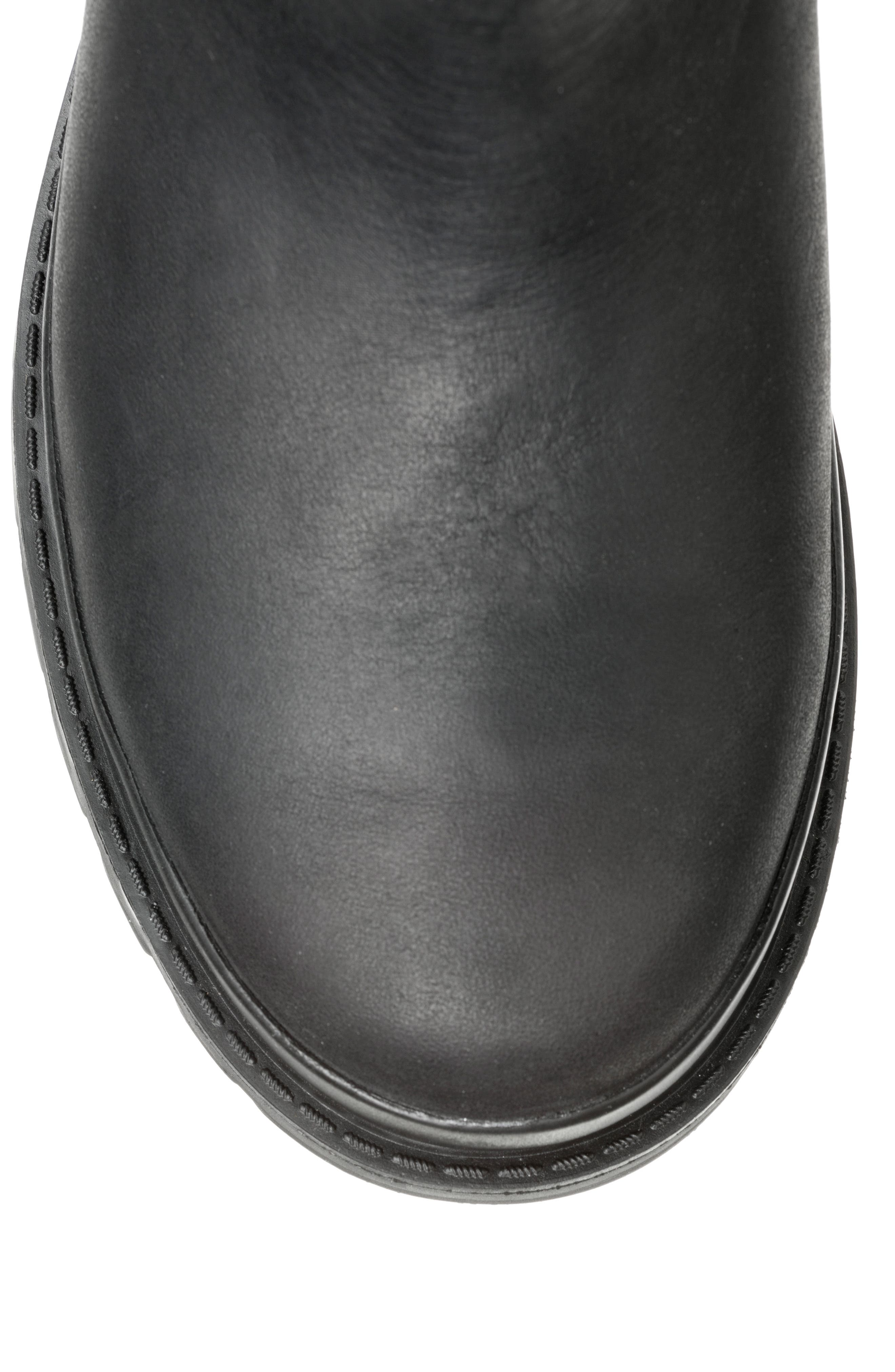 THE ORIGINAL MUCK BOOT COMPANY, Liberty Waterproof Boot, Alternate thumbnail 5, color, BLACK LEATHER