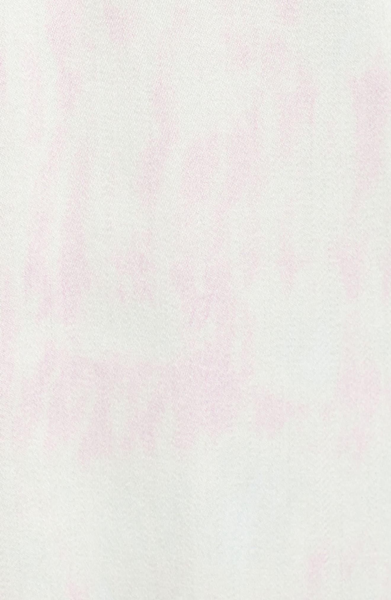 SOMETHING NAVY, Satin Trench Coat, Alternate thumbnail 8, color, 680