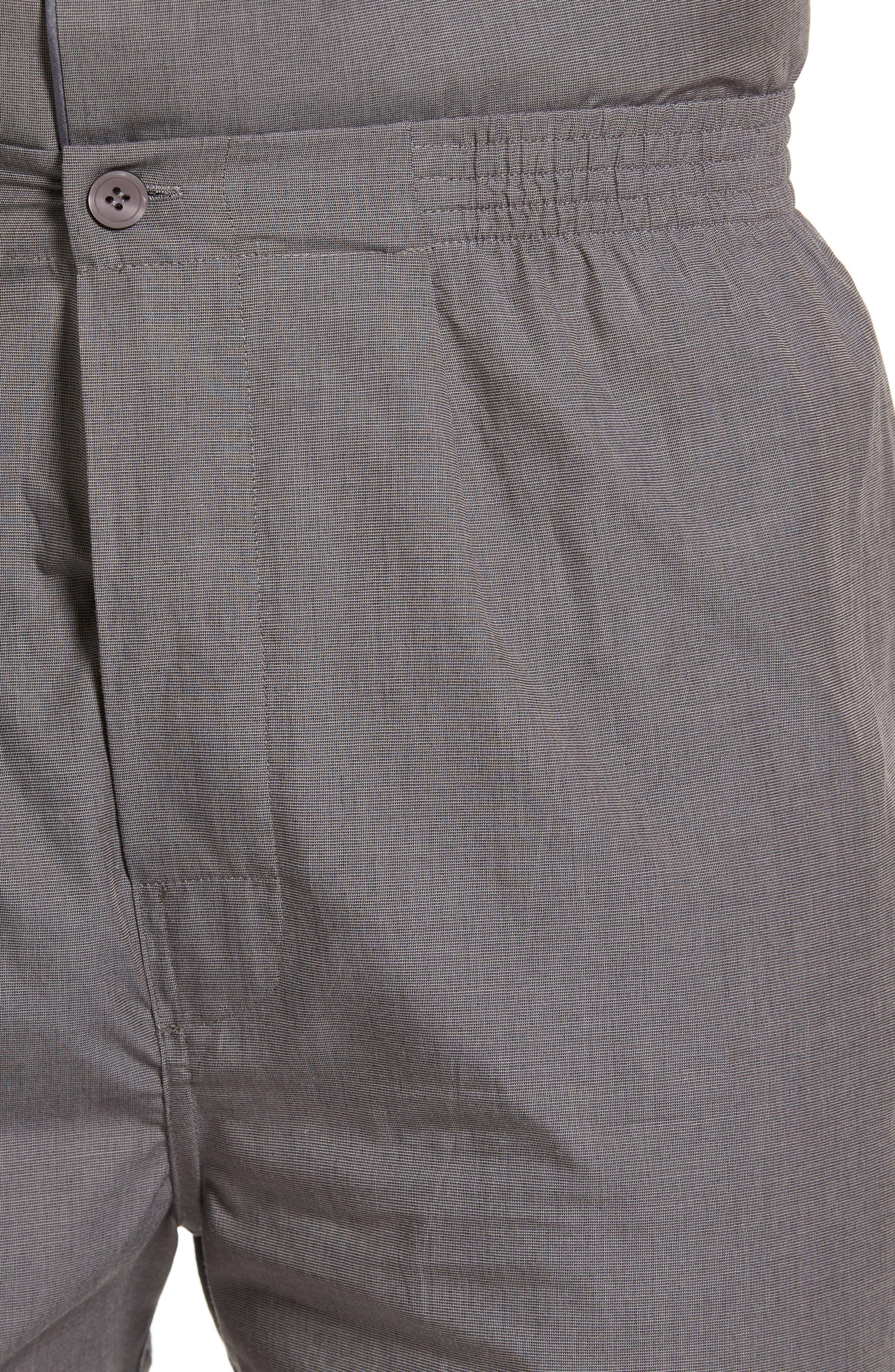MAJESTIC INTERNATIONAL, Cotton Short Pajamas, Alternate thumbnail 4, color, CHARCOAL
