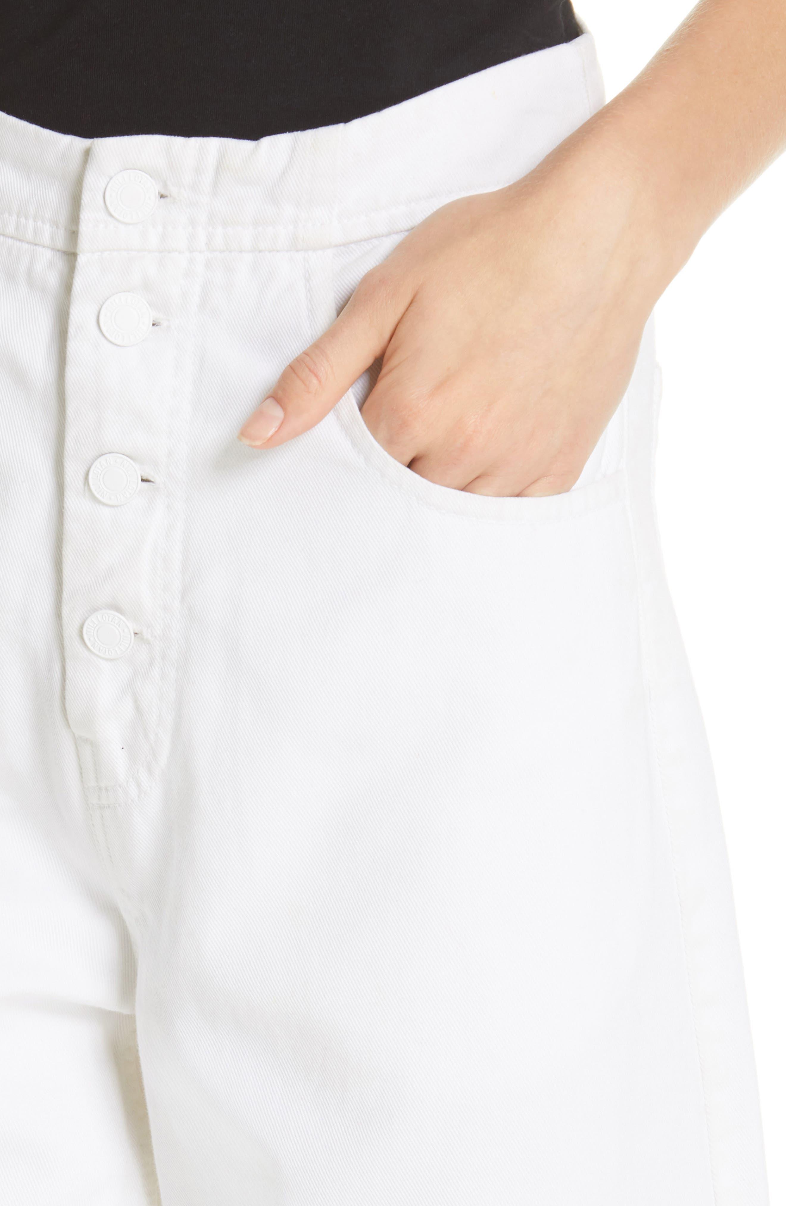 NILI LOTAN, Toledo Crop Cotton Pants, Alternate thumbnail 5, color, VINTAGE WHITE
