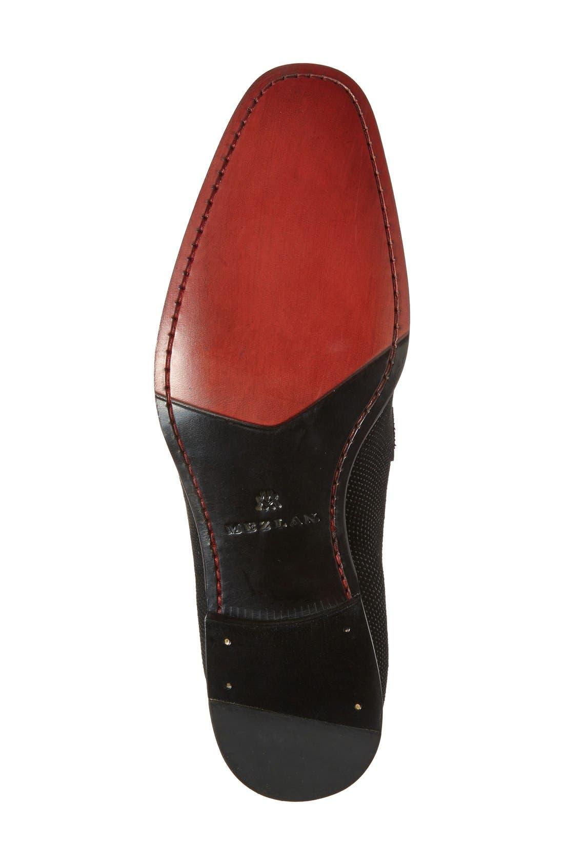 MEZLAN, 'Capizzi' Venetian Loafer, Alternate thumbnail 2, color, BLACK