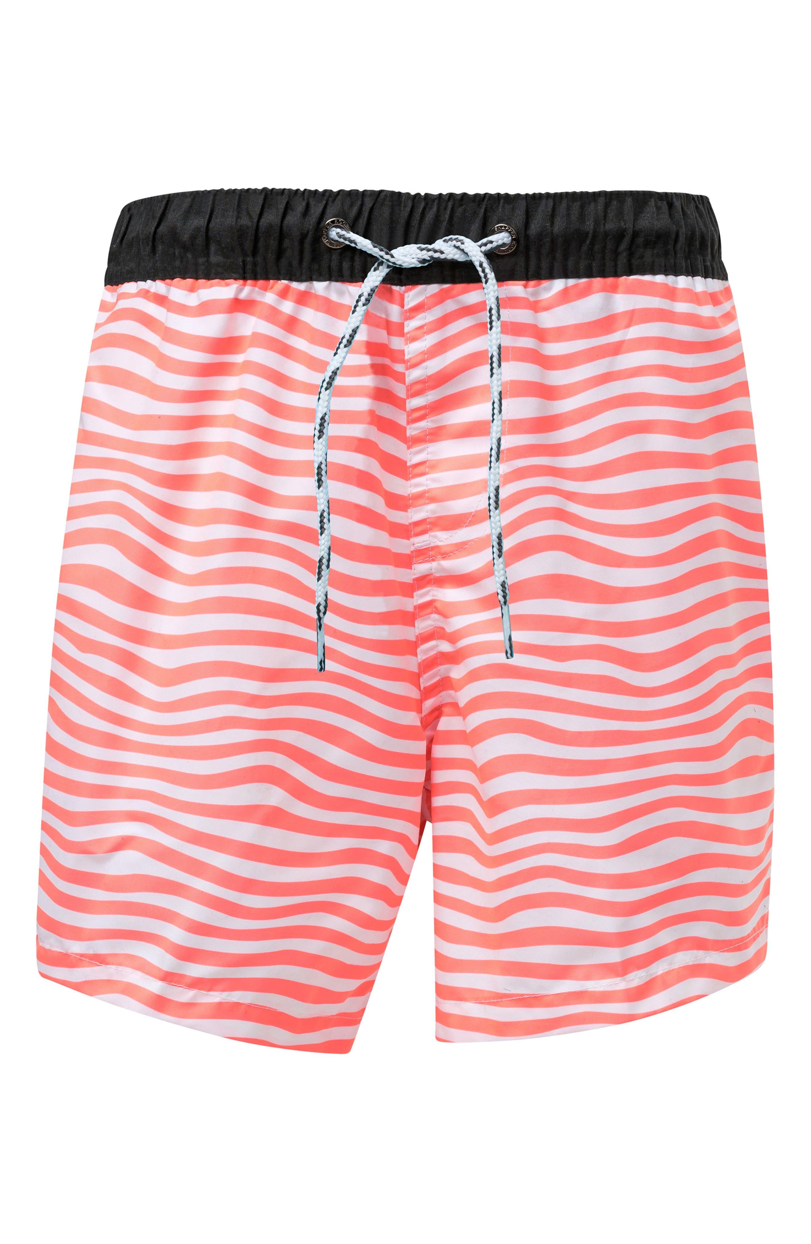SNAPPER ROCK Orange Crush Swim Trunks, Main, color, BRIGHT ORANGE