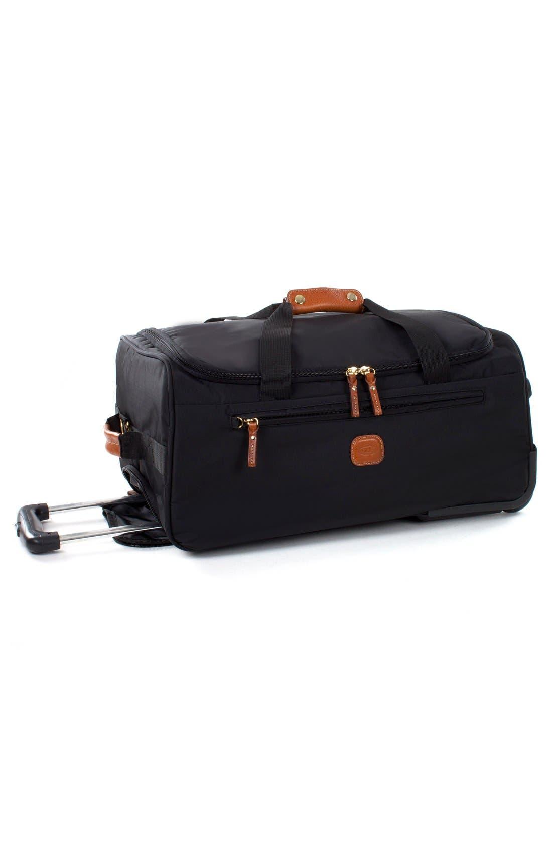 BRIC'S, Brics X-Bag 21-Inch Rolling Carry-On Duffle Bag, Alternate thumbnail 4, color, BLACK