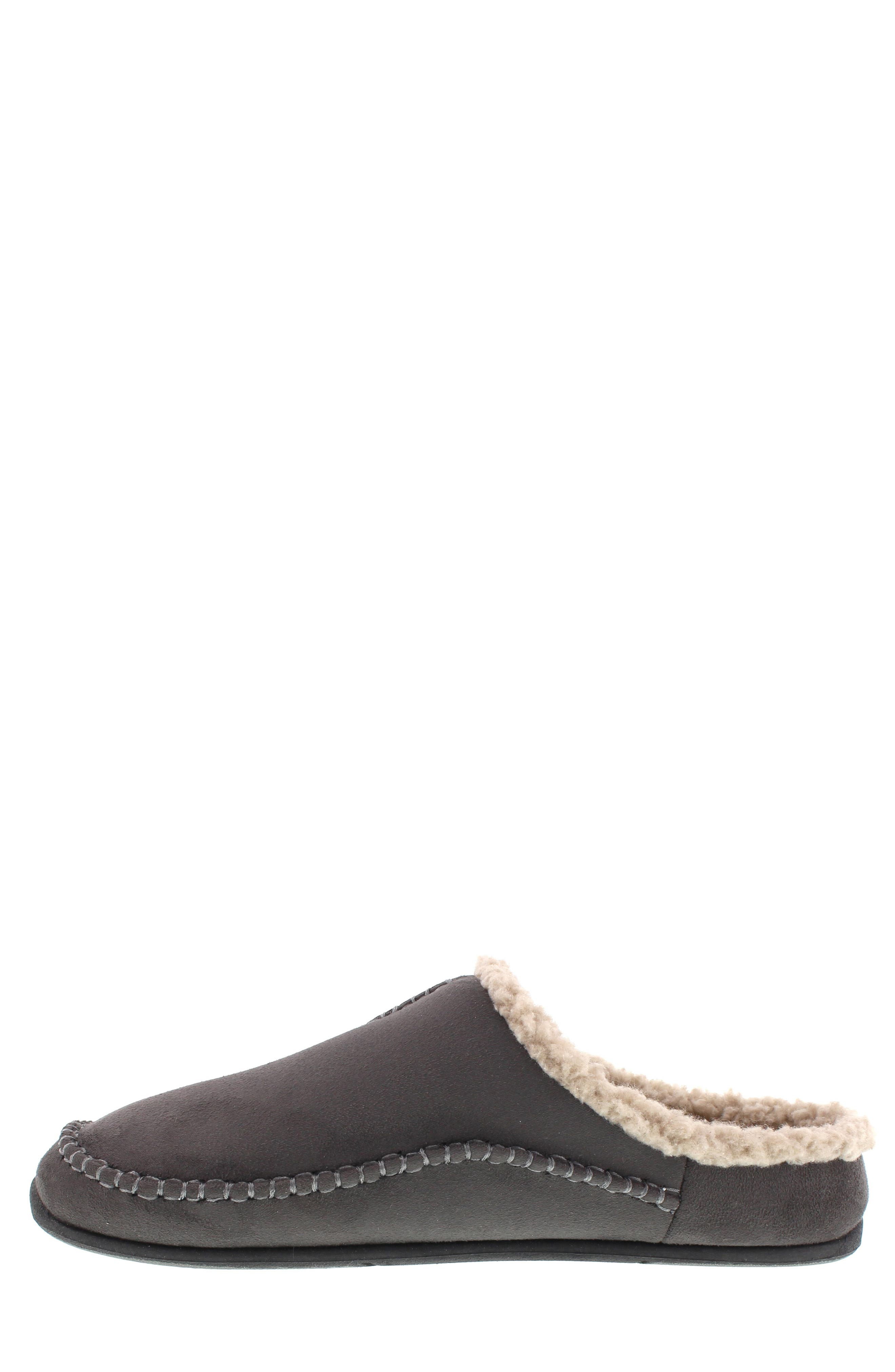 DEER STAGS, 'Nordic' Slipper, Alternate thumbnail 5, color, DARK GREY