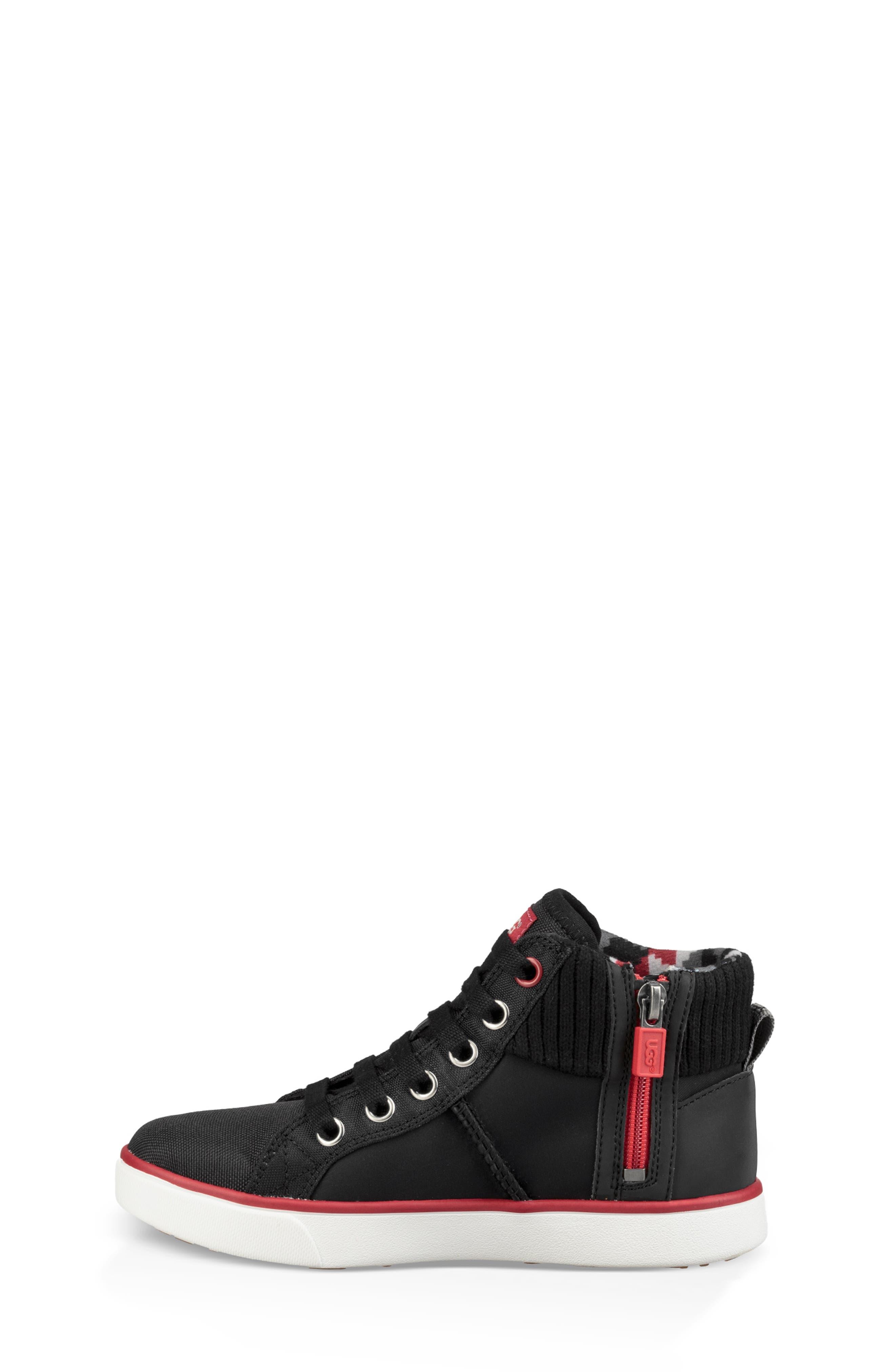 UGG<SUP>®</SUP>, Boscoe Sneaker, Alternate thumbnail 6, color, 001