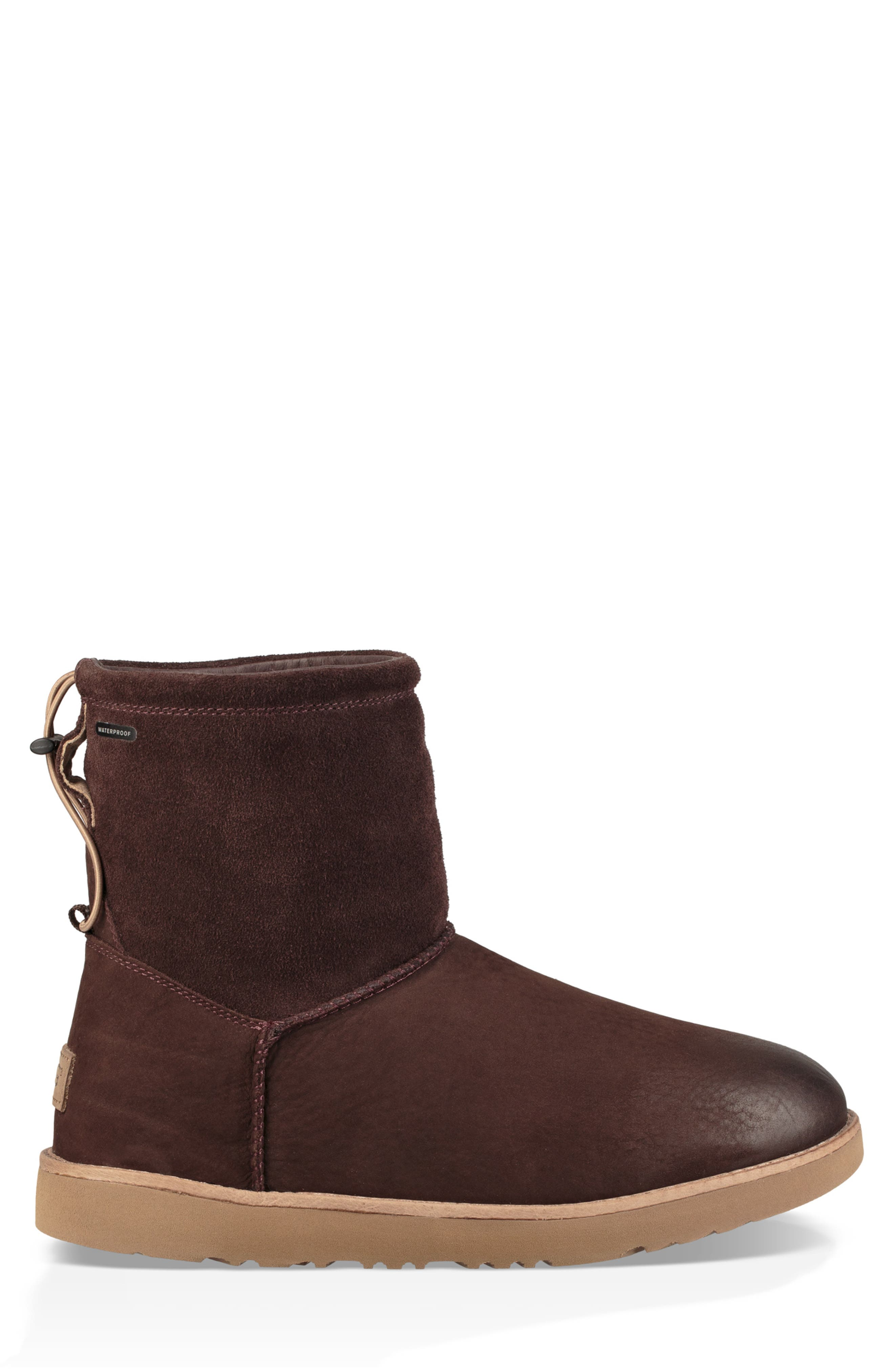 UGG<SUP>®</SUP>, Classic Waterproof Boot, Alternate thumbnail 3, color, STOUT