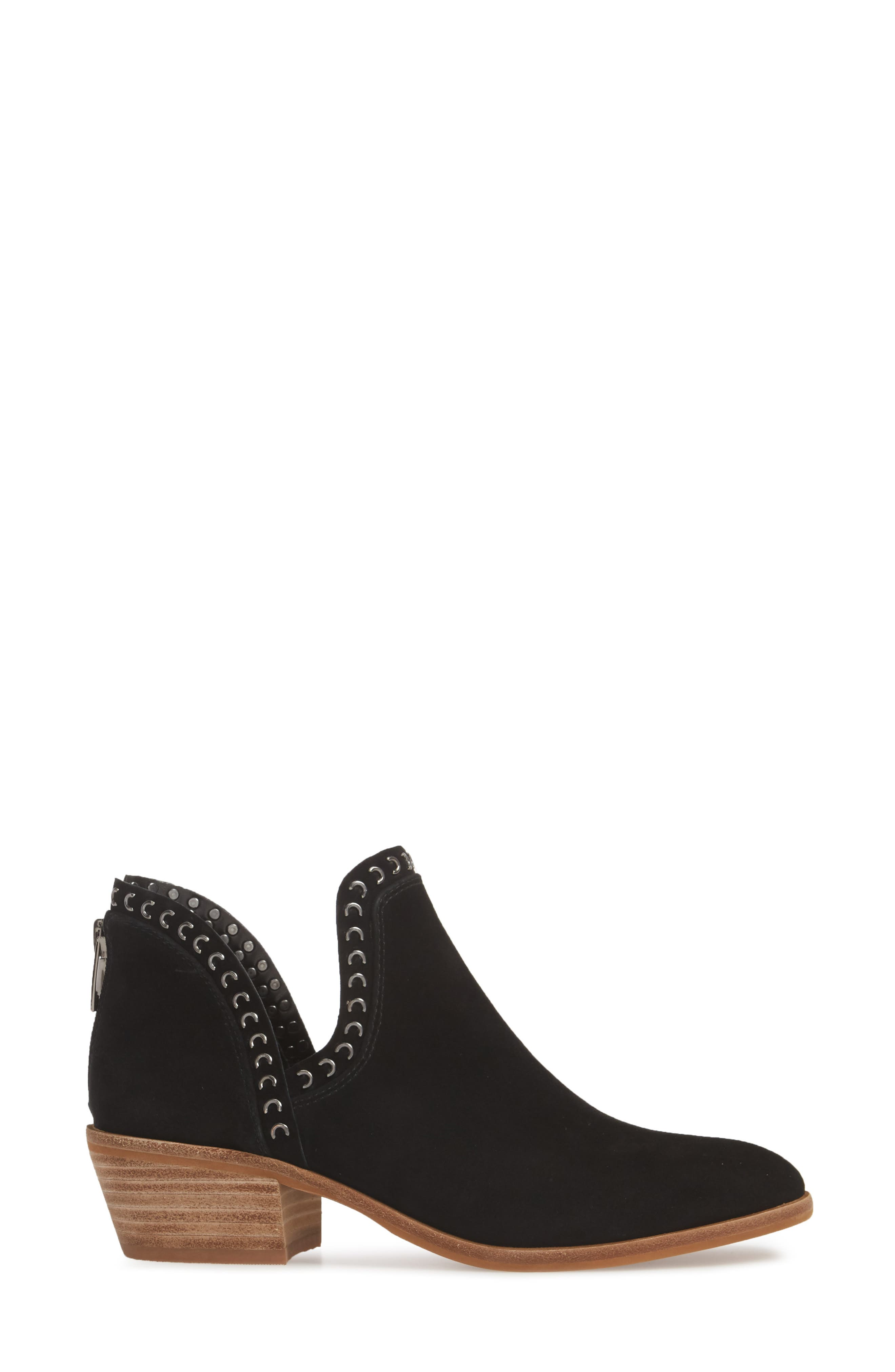 VINCE CAMUTO, Prafinta Boot, Alternate thumbnail 3, color, BLACK SUEDE
