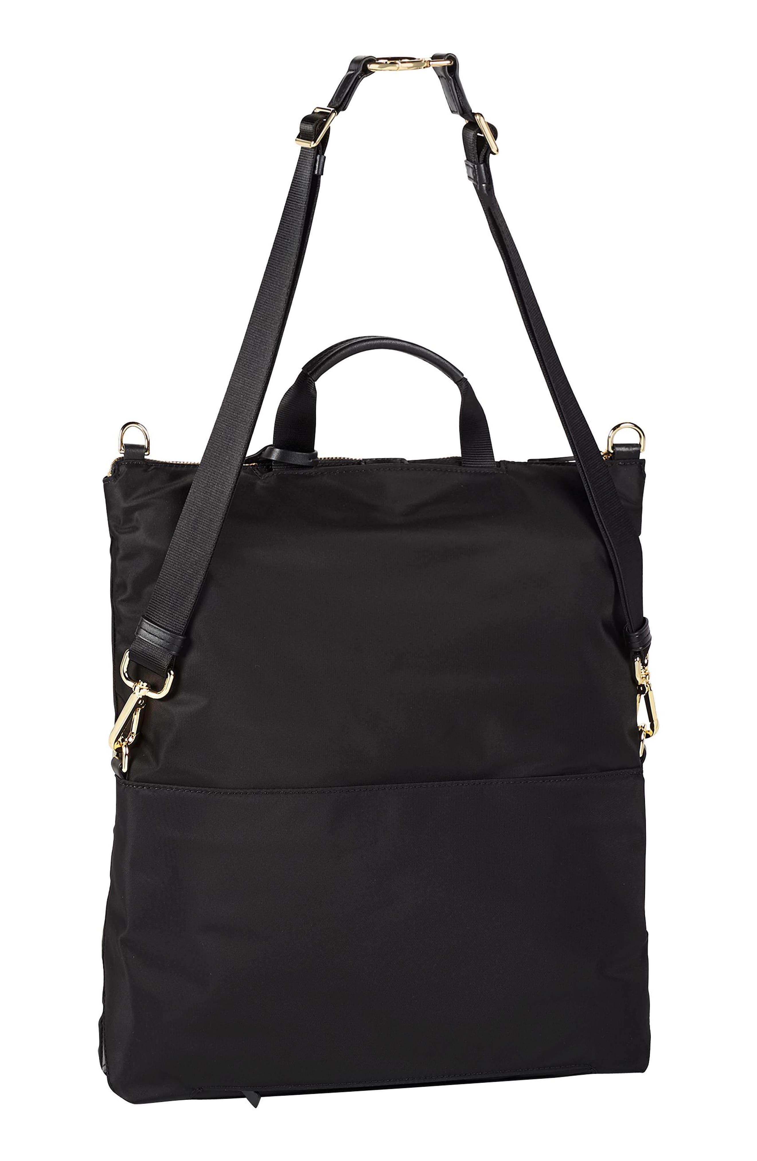 TUMI, Voyageur Jena Nylon Convertible Backpack, Alternate thumbnail 6, color, BLACK