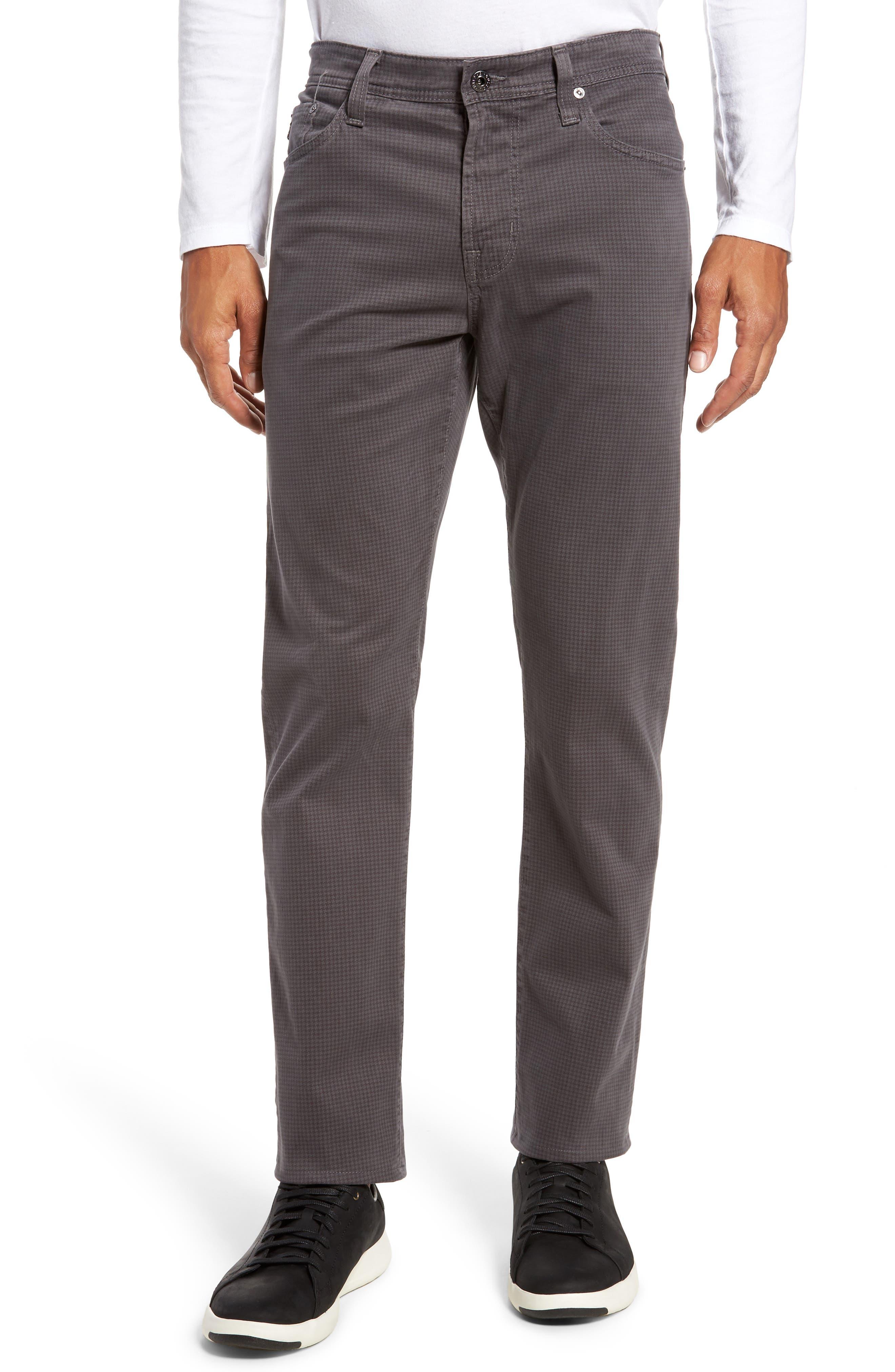 AG, Everett SUD Print Slim Straight Leg Pants, Main thumbnail 1, color, NO_COLOR