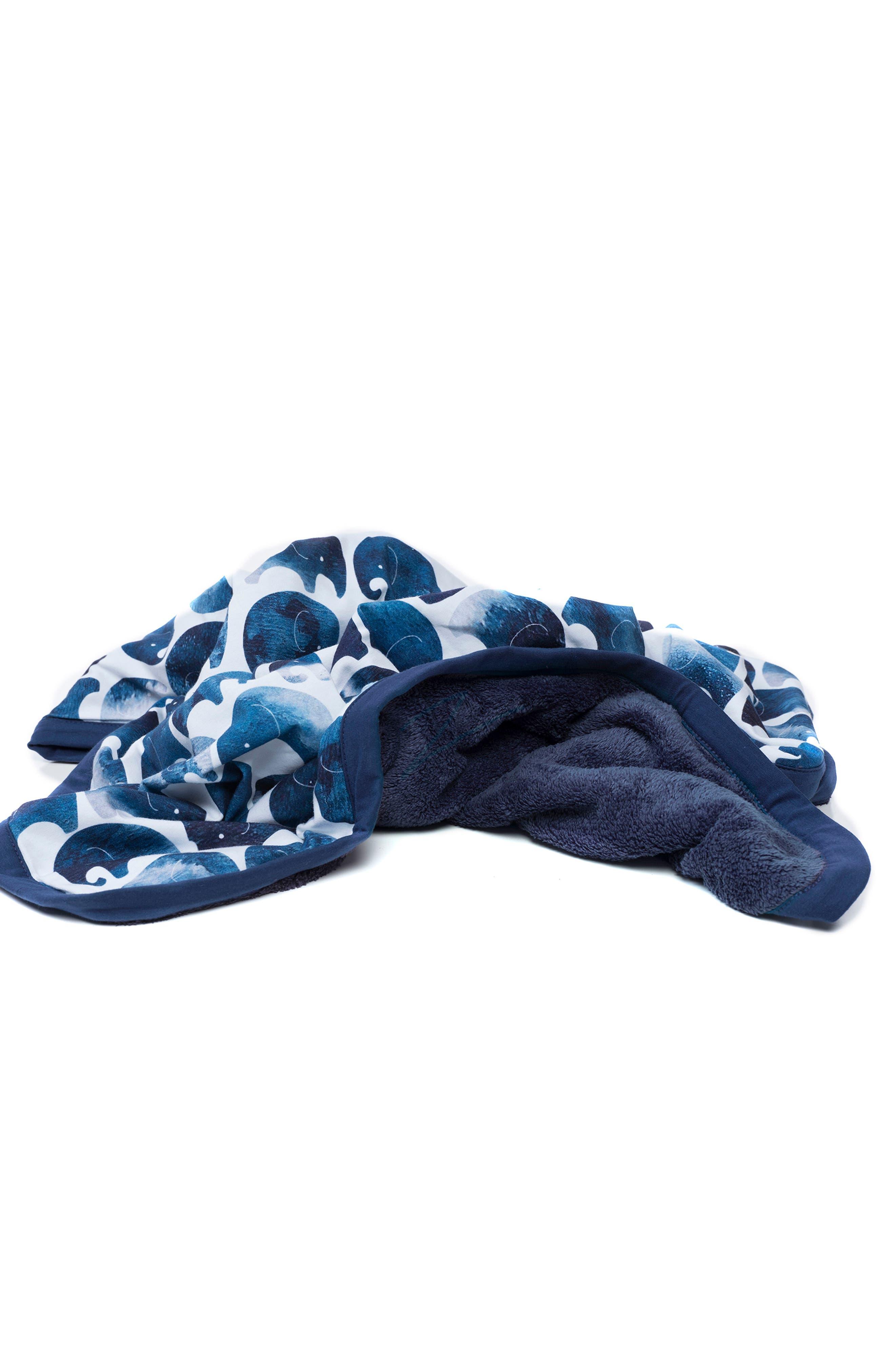 OILO, Elefant Cuddle Blanket, Alternate thumbnail 5, color, ELEFANT