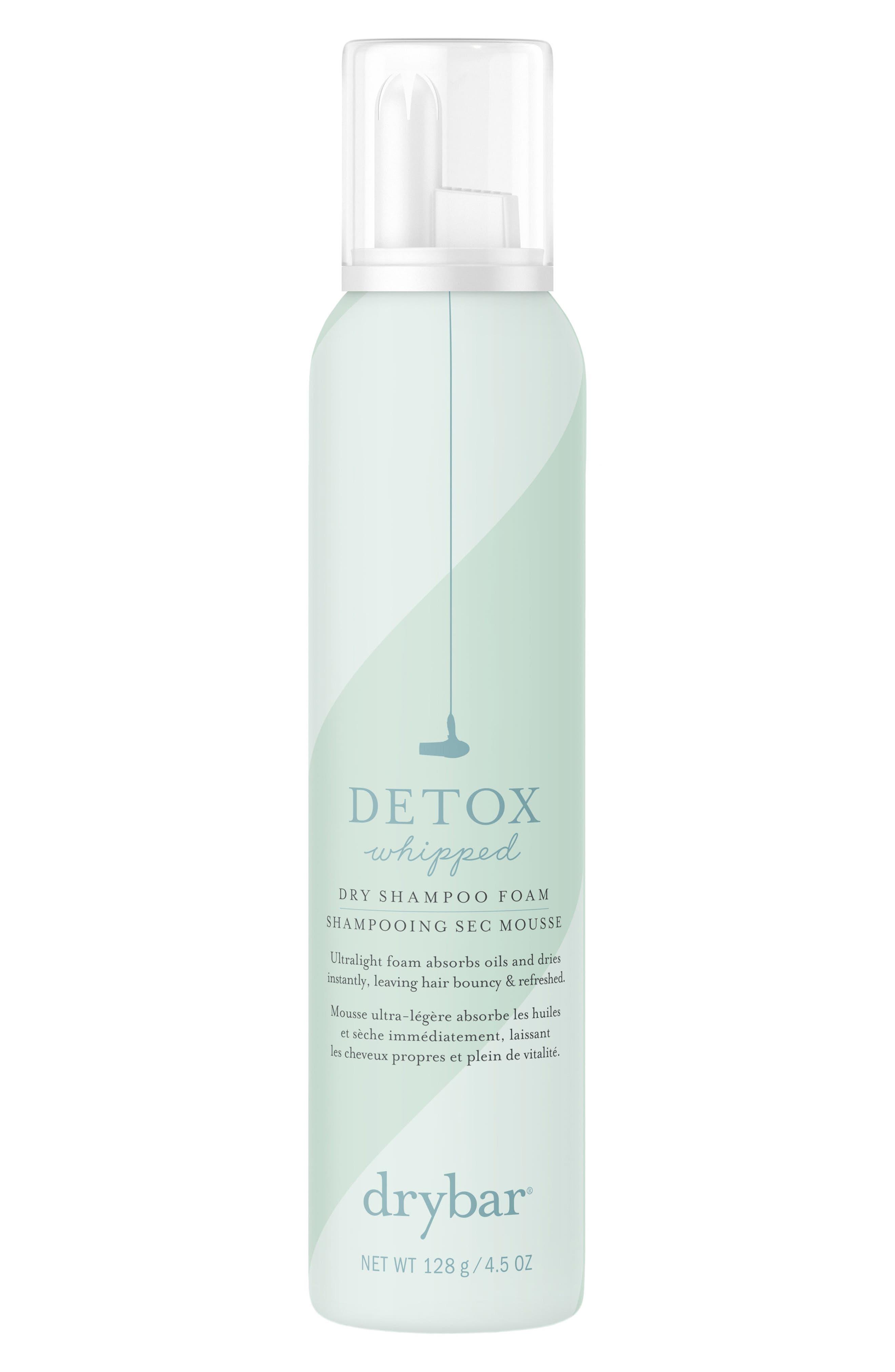 DRYBAR, Detox Whipped Dry Shampoo Foam, Main thumbnail 1, color, NO COLOR