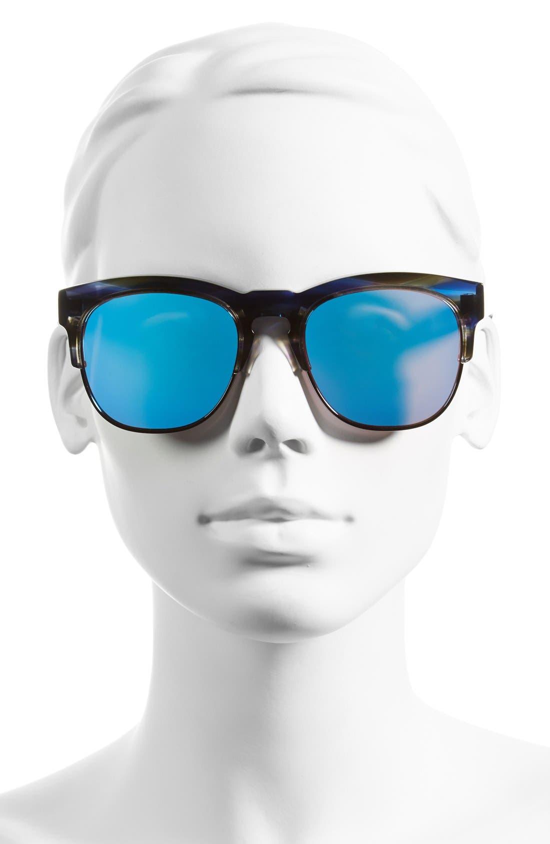 WILDFOX, 'Club Fox Deluxe' 52mm Sunglasses, Alternate thumbnail 2, color, 020
