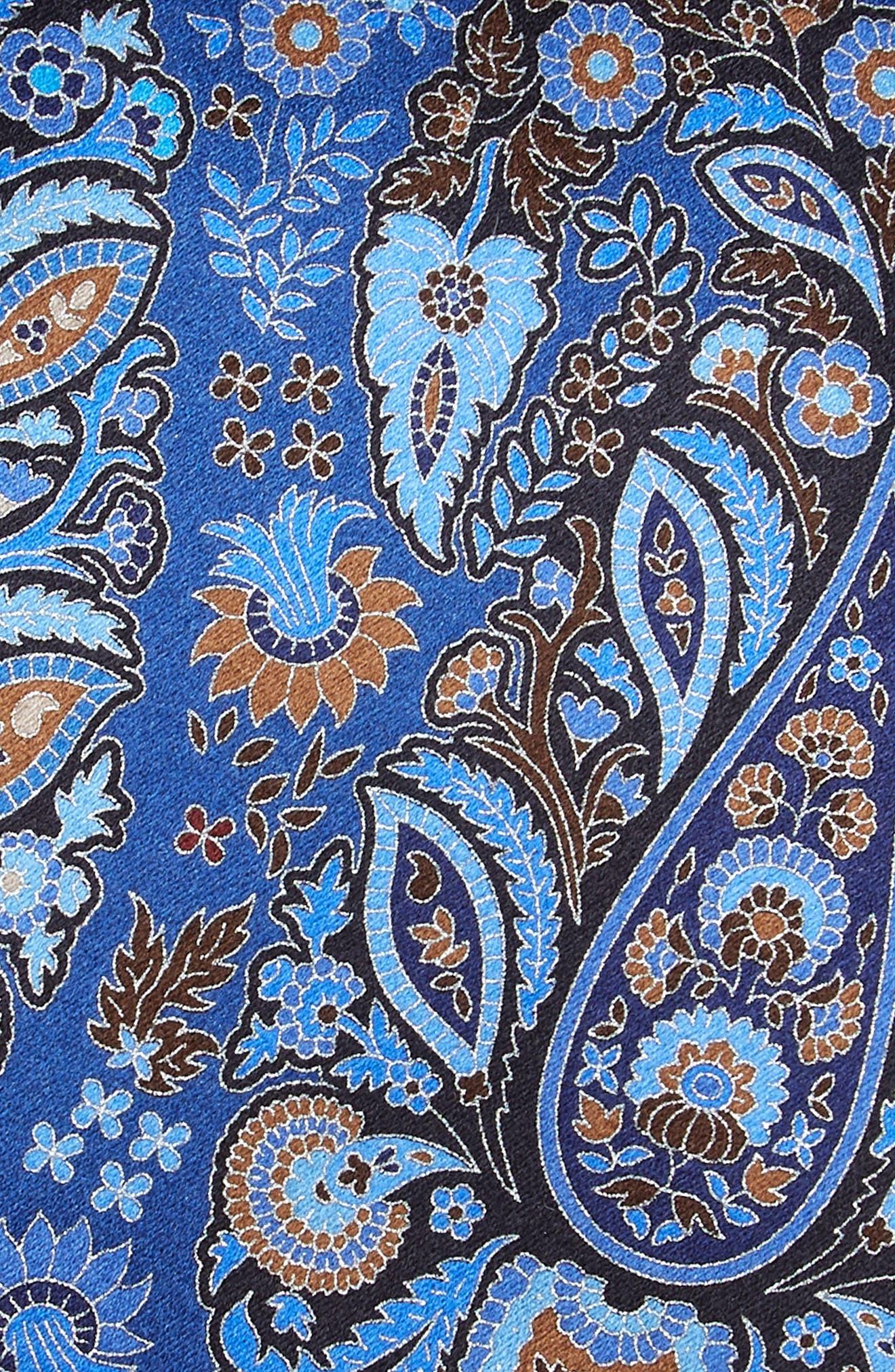 ERMENEGILDO ZEGNA, Quindici Paisley Silk Tie, Alternate thumbnail 2, color, BLUE