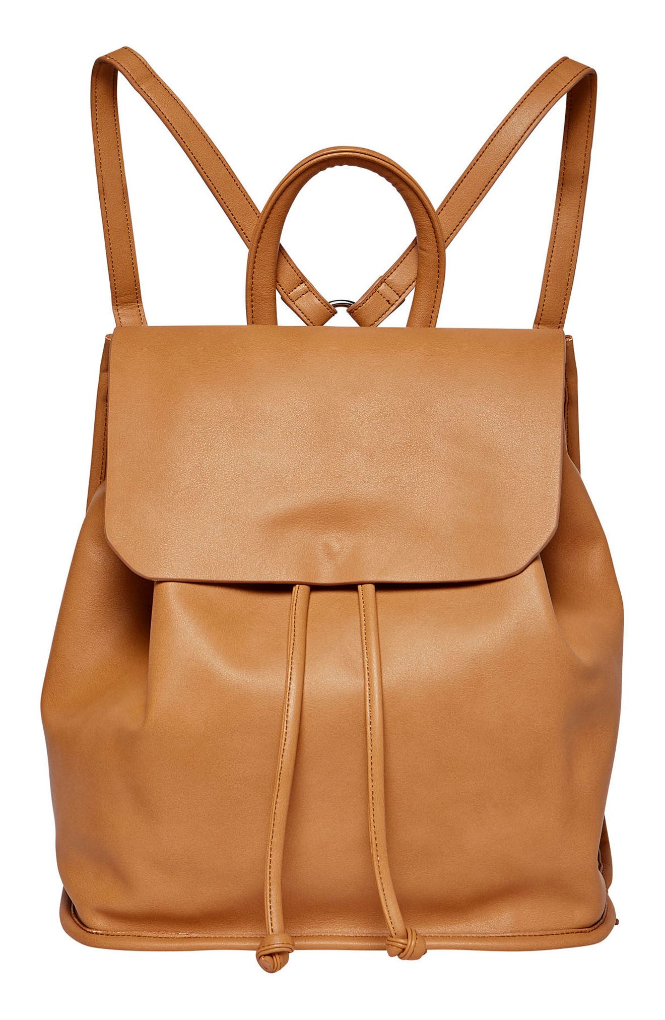 URBAN ORIGINALS Midnight Vegan Leather Flap Backpack, Main, color, 200