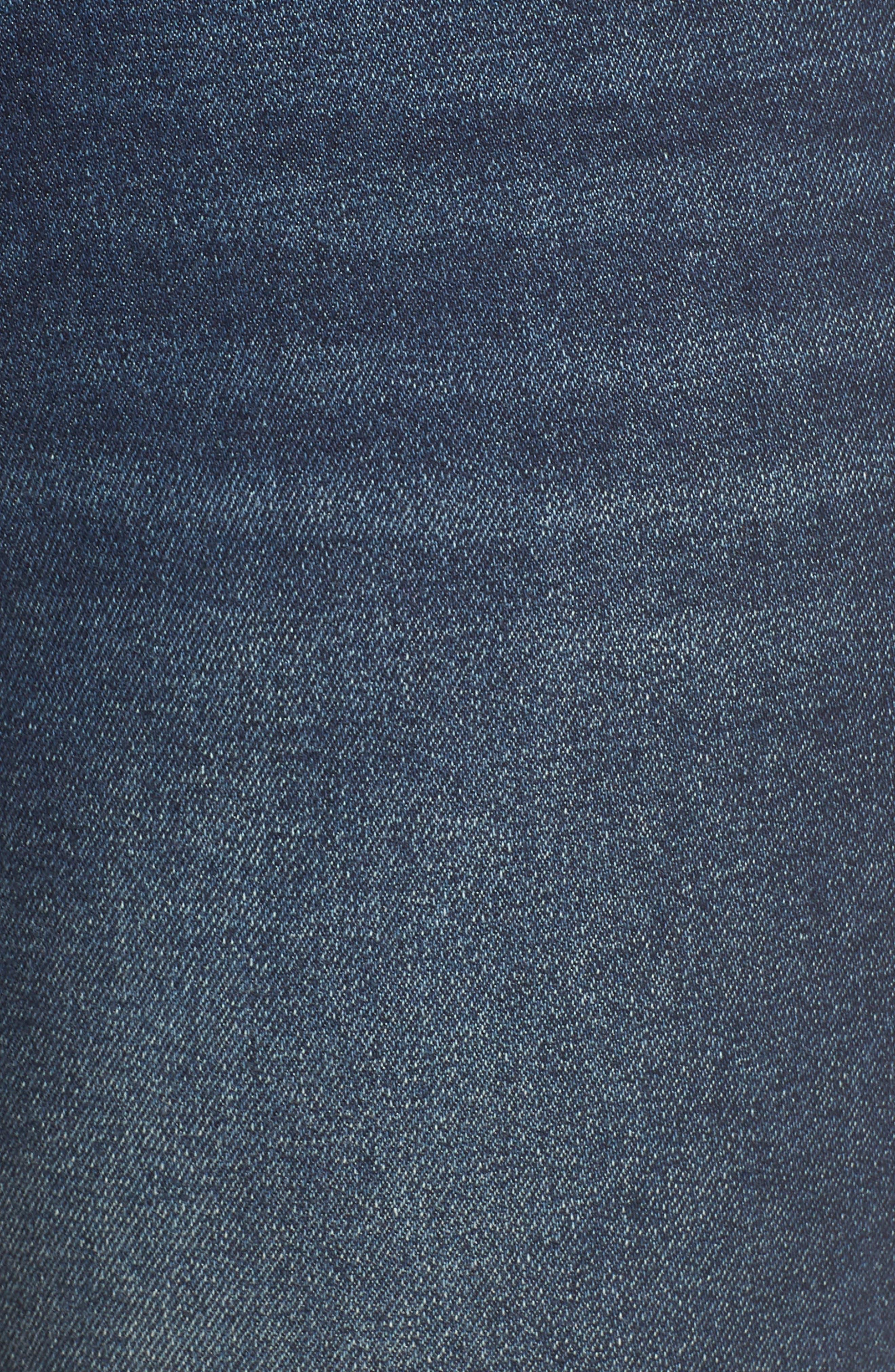 MAXSTUDIO INDIGO, High Waist Crop Skinny Jeans, Alternate thumbnail 6, color, JADE