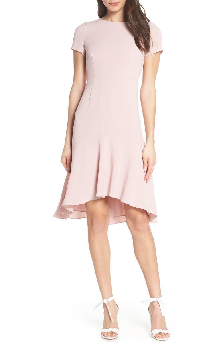 Avec Les Filles Dresses HIGH/LOW SHEATH DRESS