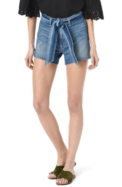 Joe's Shorts BELTED HIGH WAIST DENIM SHORTS