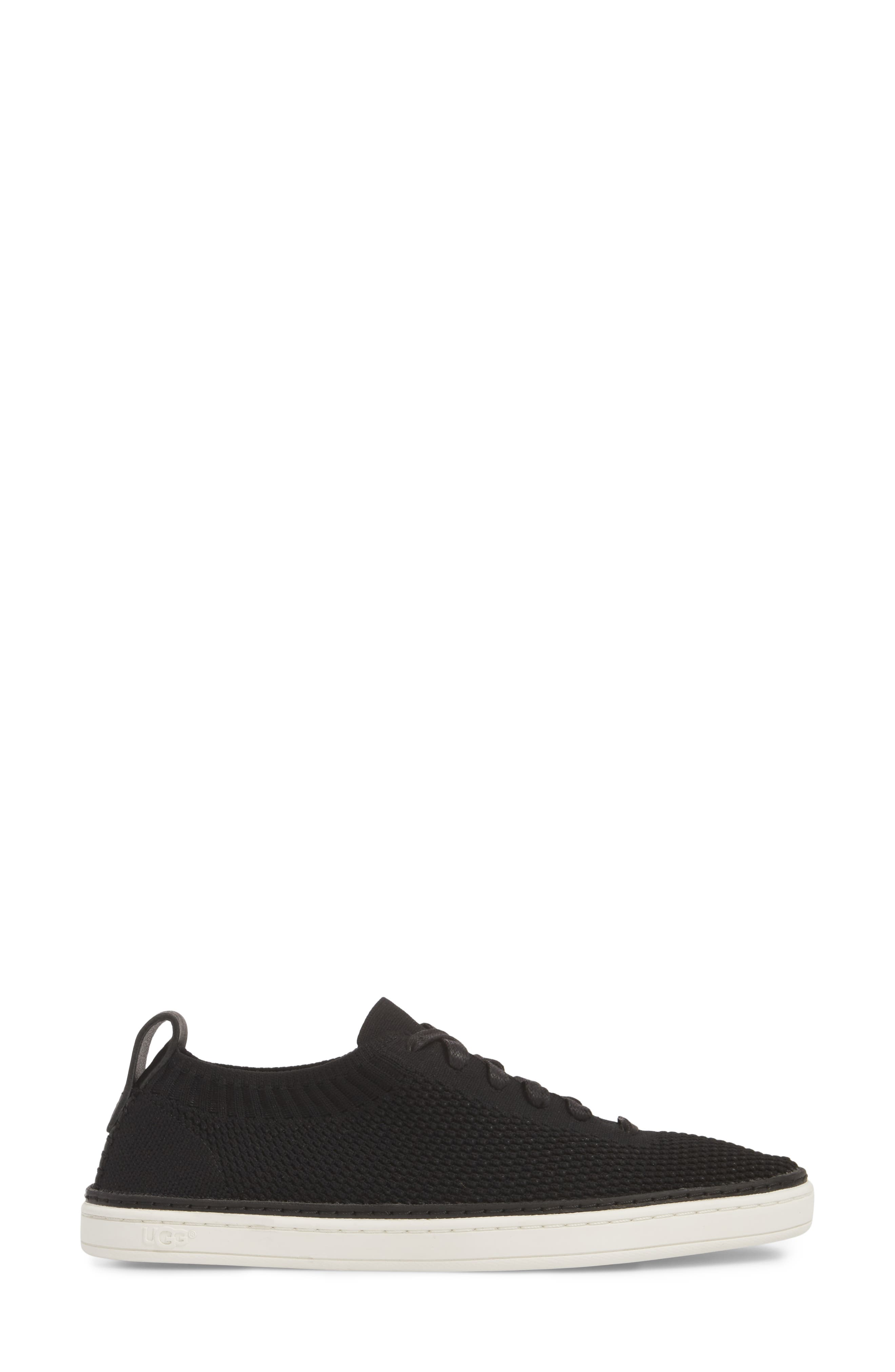 UGG<SUP>®</SUP>, Sidney Sneaker, Alternate thumbnail 3, color, BLACK FABRIC