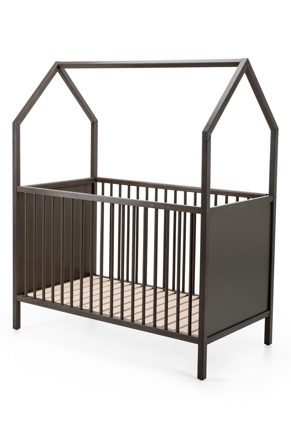 STOKKE, 'Home<sup>™</sup>' Bed, Alternate thumbnail 4, color, HAZY GREY