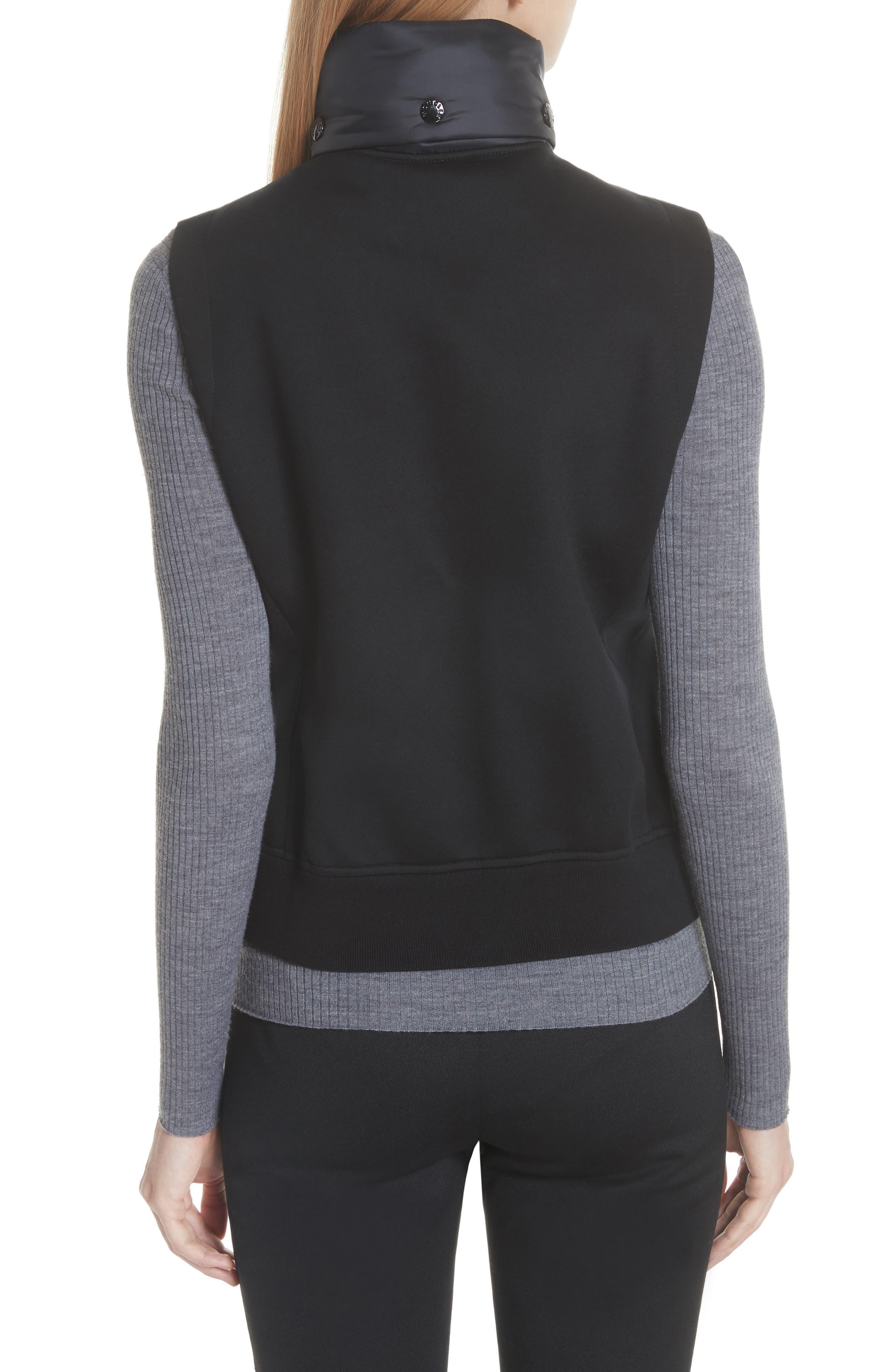 MONCLER, Down Quilted Fleece Vest, Alternate thumbnail 2, color, 001