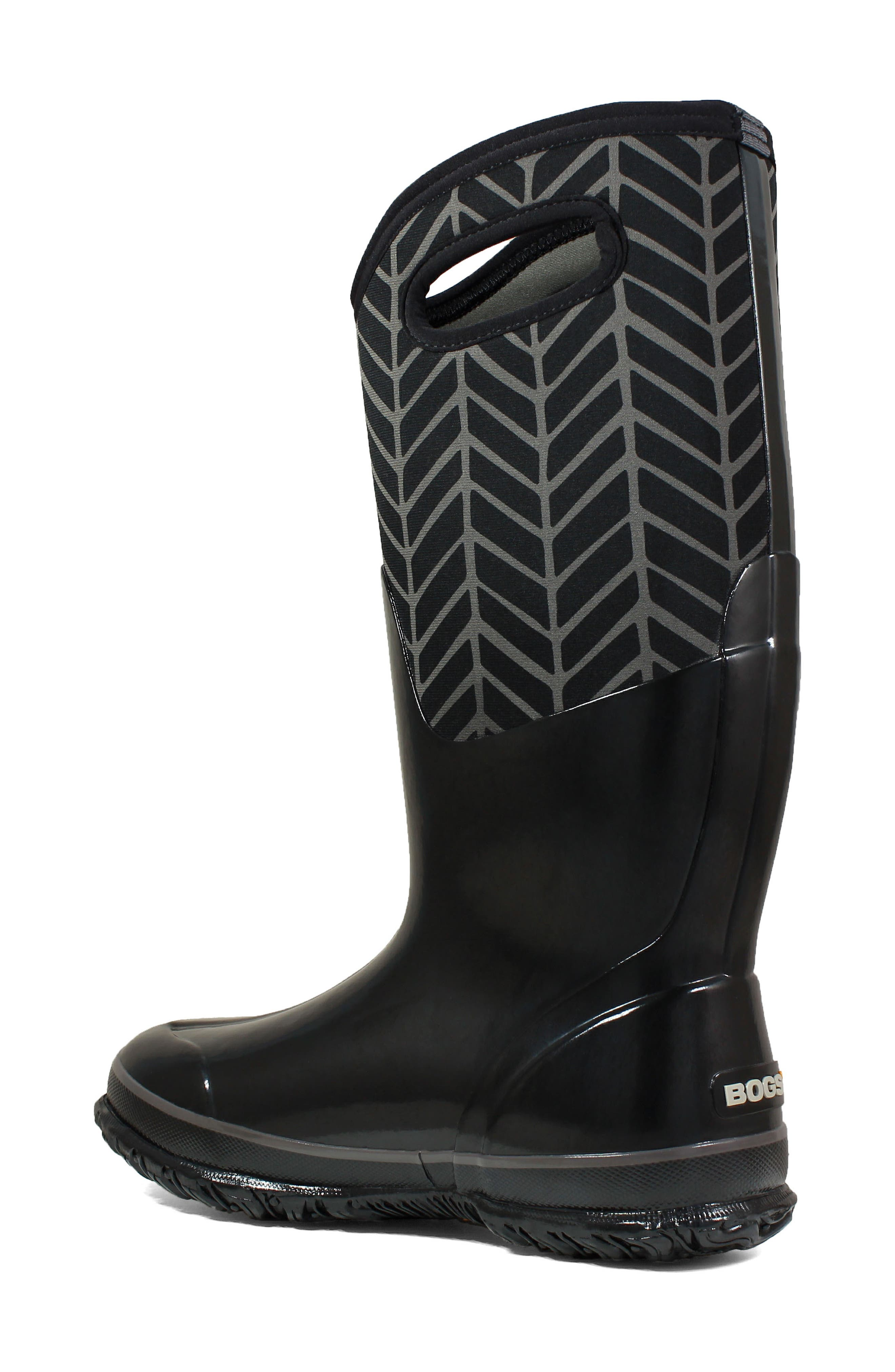 BOGS, Classic Tall Badge Waterproof Snow Boot, Alternate thumbnail 2, color, 009