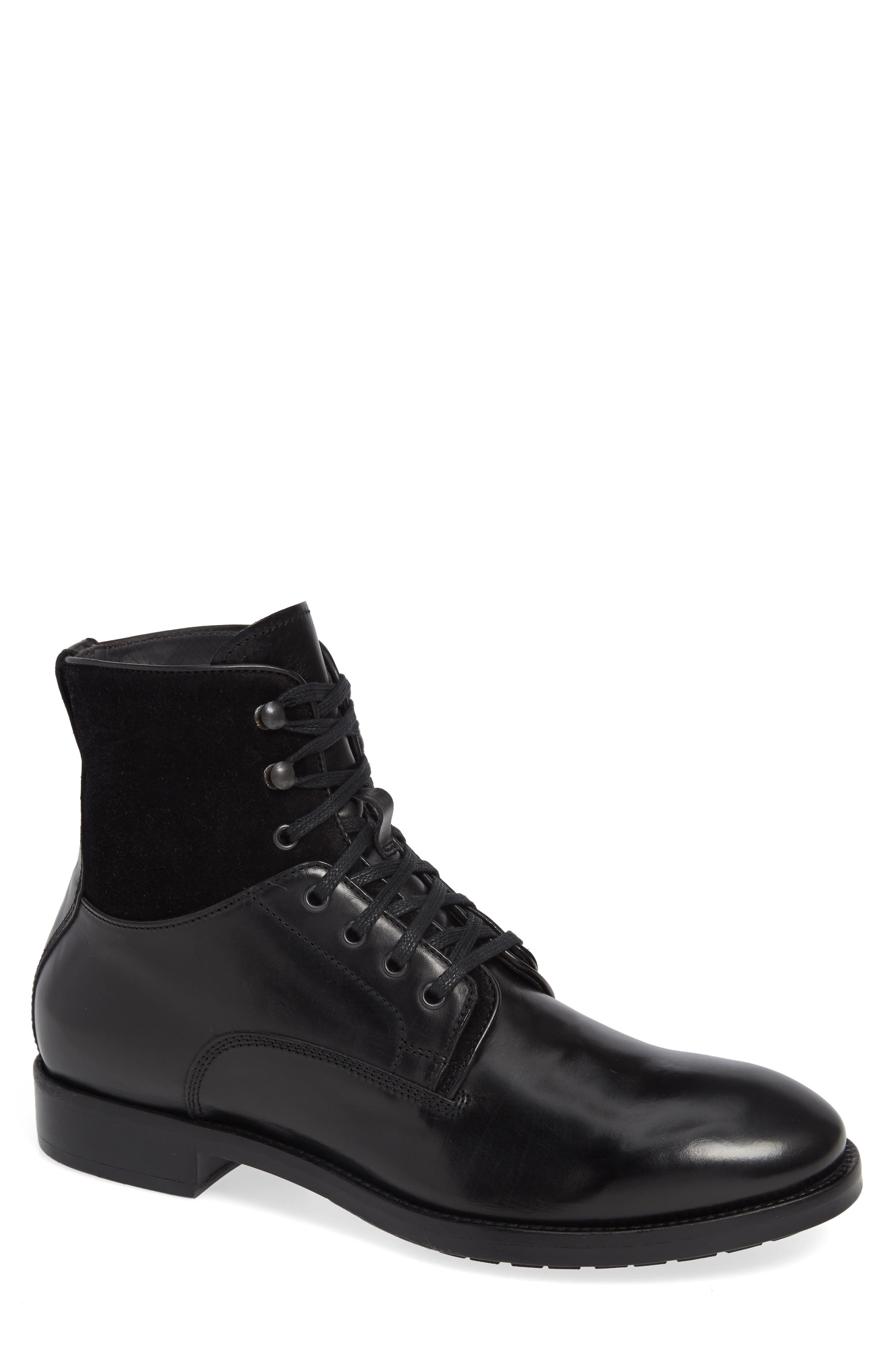 To Boot New York Abbott Tall Plain Toe Boot- Black