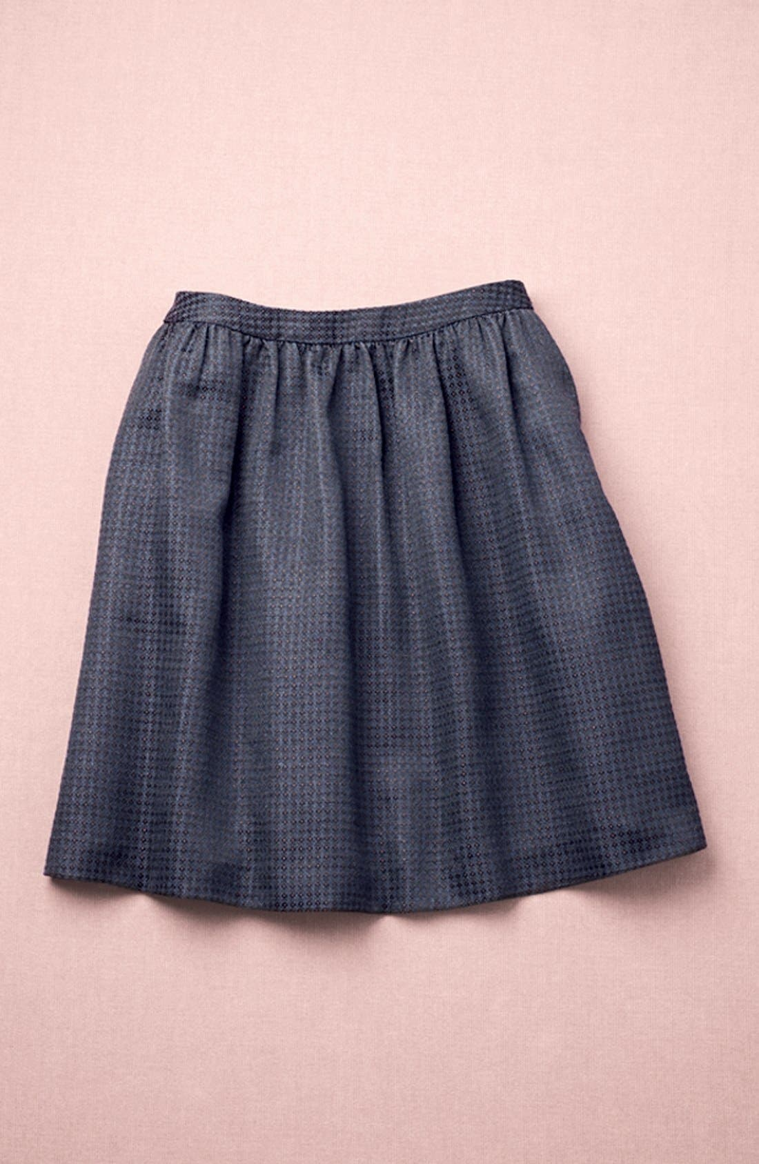 HALOGEN<SUP>®</SUP>, Jacquard Flare Skirt, Alternate thumbnail 7, color, 001
