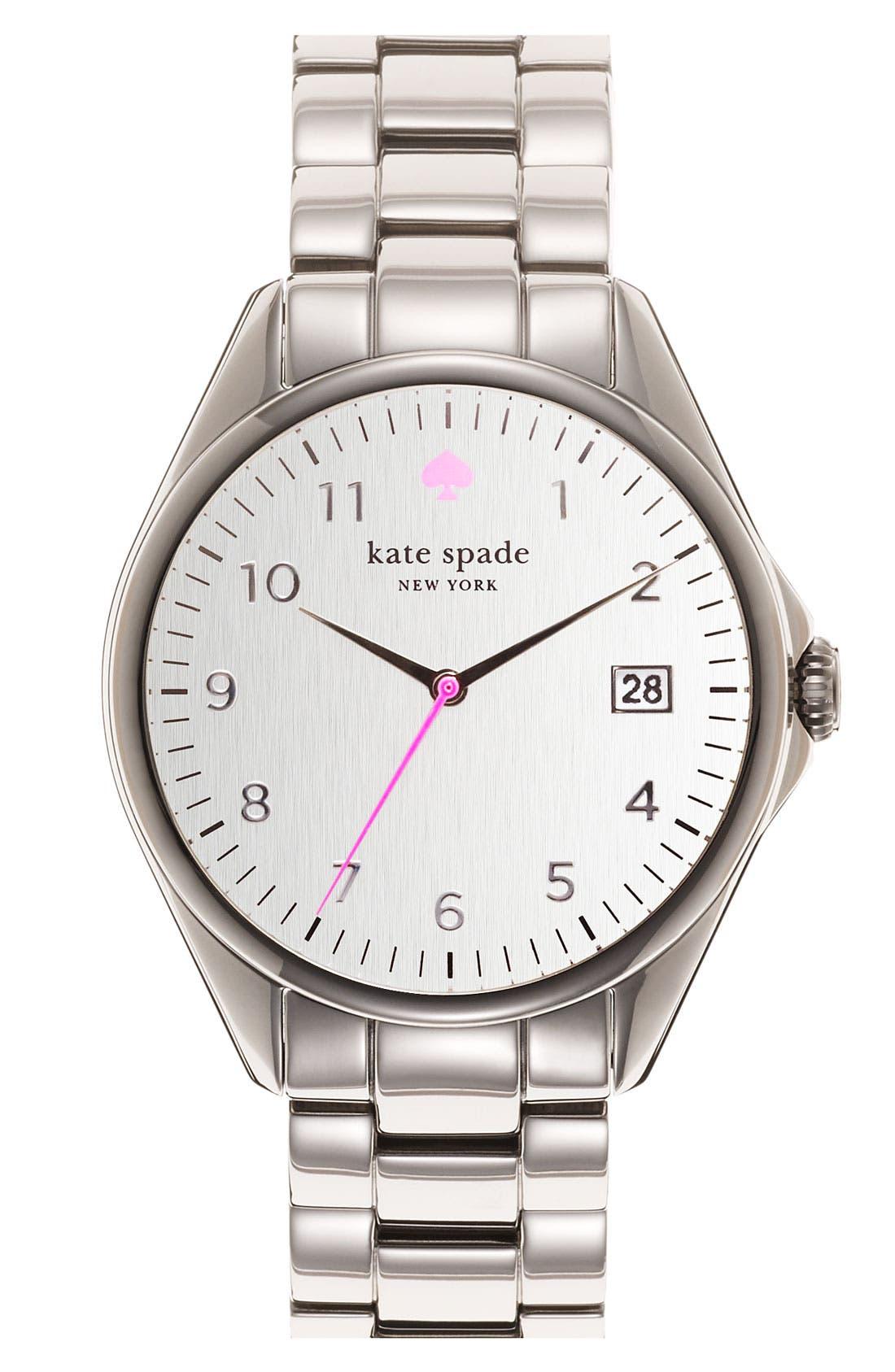 KATE SPADE NEW YORK, 'seaport grand' bracelet watch, 38mm, Main thumbnail 1, color, 040