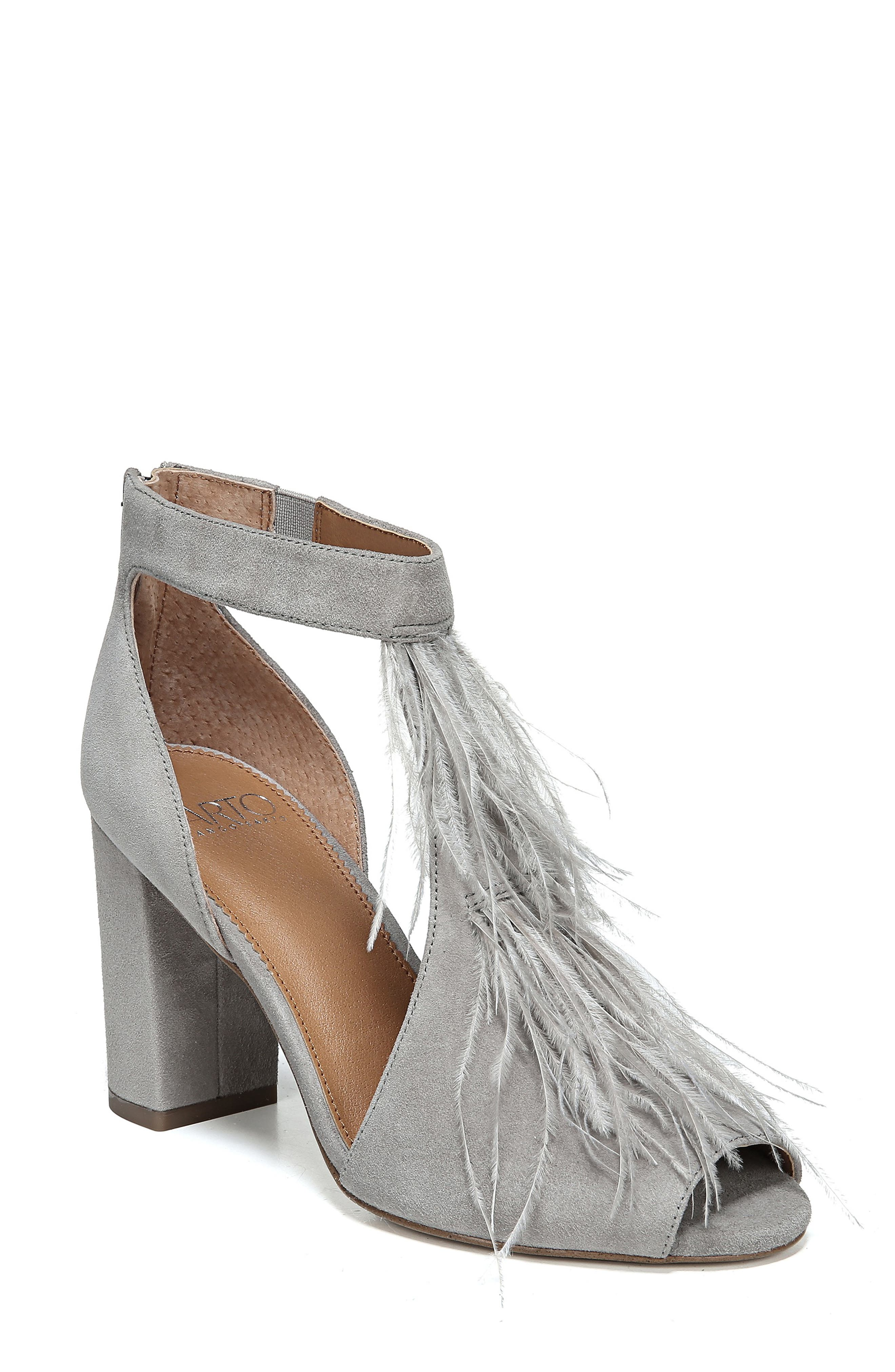 SARTO BY FRANCO SARTO Olivette Sandal, Main, color, GREYSTONE LEATHER