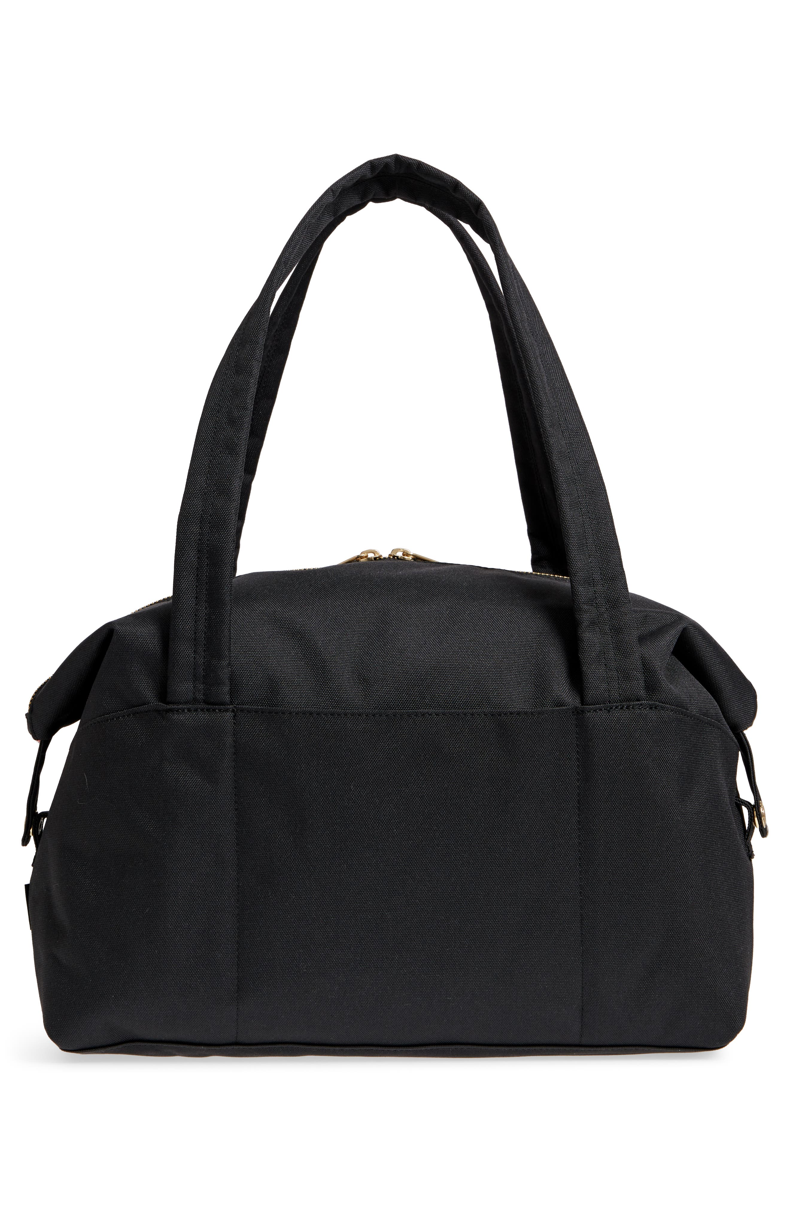 HERSCHEL SUPPLY CO., Extra Small Strand Duffle Bag, Alternate thumbnail 4, color, BLACK