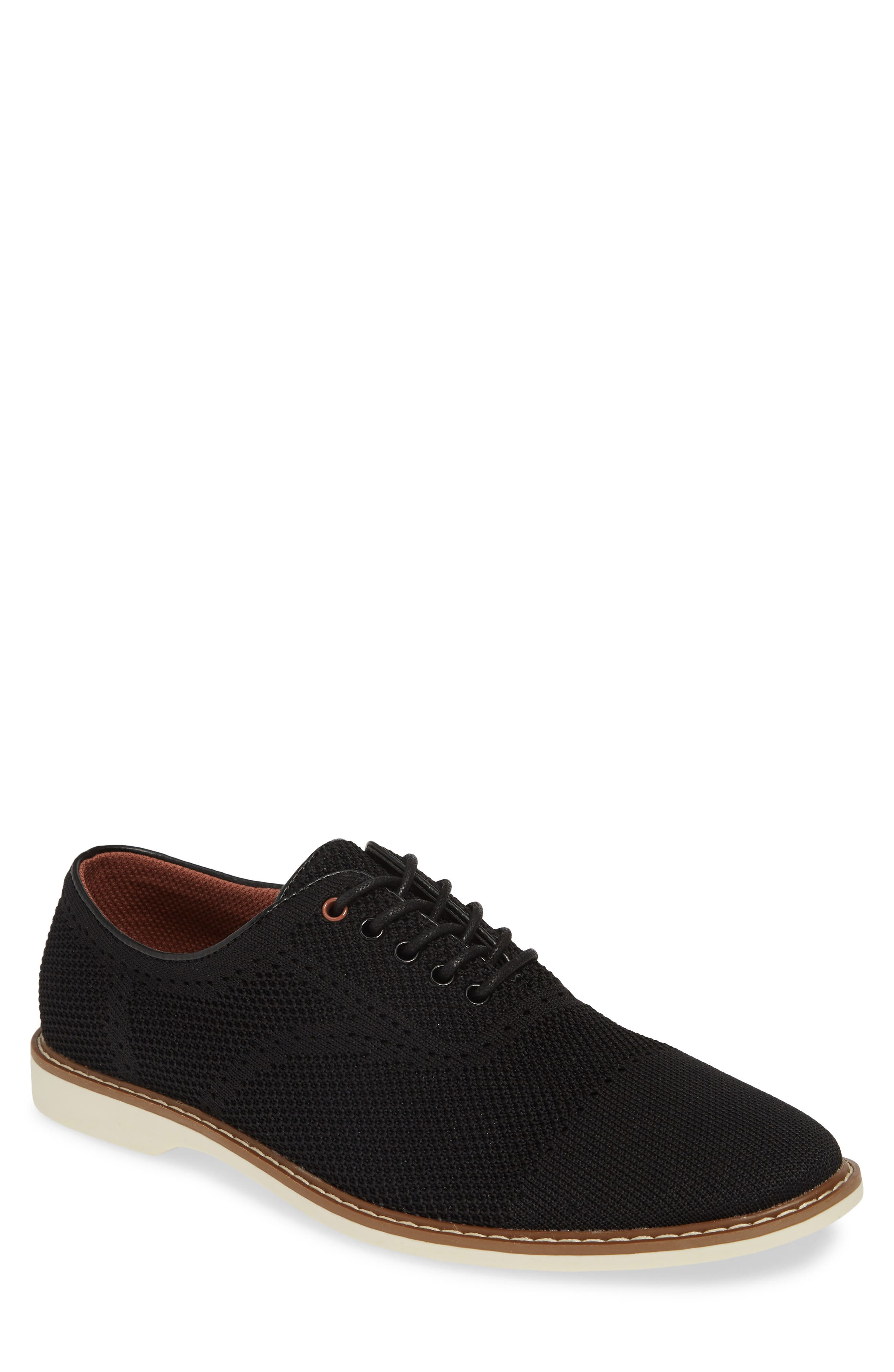 THE RAIL Jared Plain Toe Oxford, Main, color, BLACK