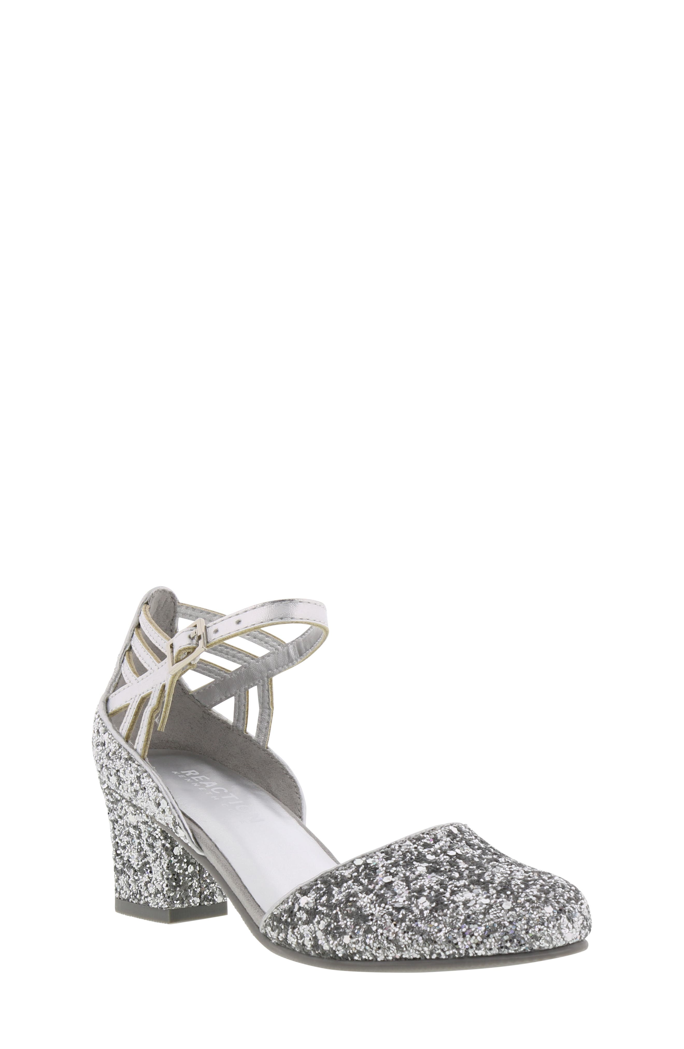 REACTION KENNETH COLE, Kenneth Cole New York Sarah Shine Pump, Main thumbnail 1, color, SILVER MULTI