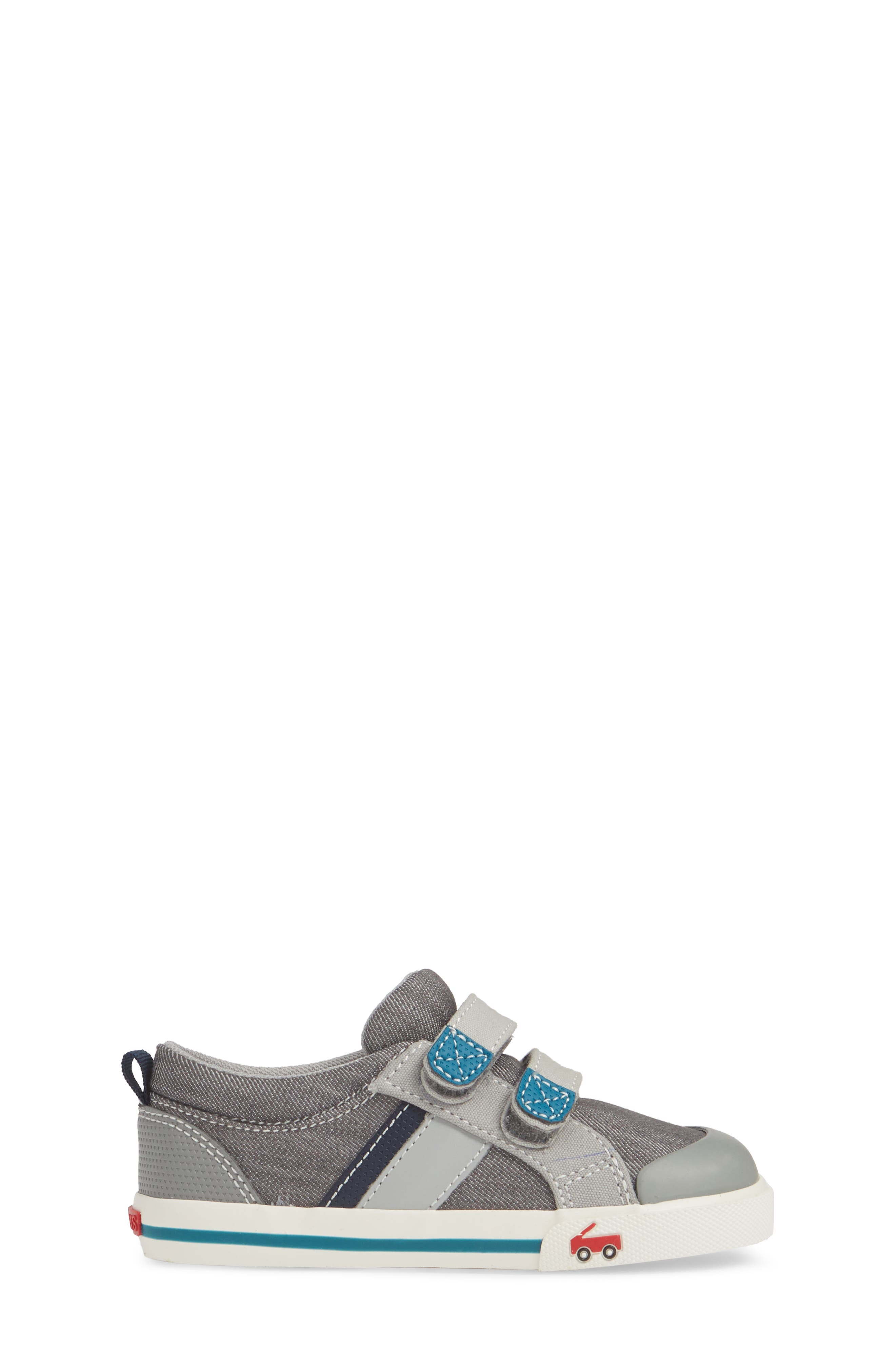SEE KAI RUN, 'Russell' Sneaker, Alternate thumbnail 3, color, GREY/ TEAL