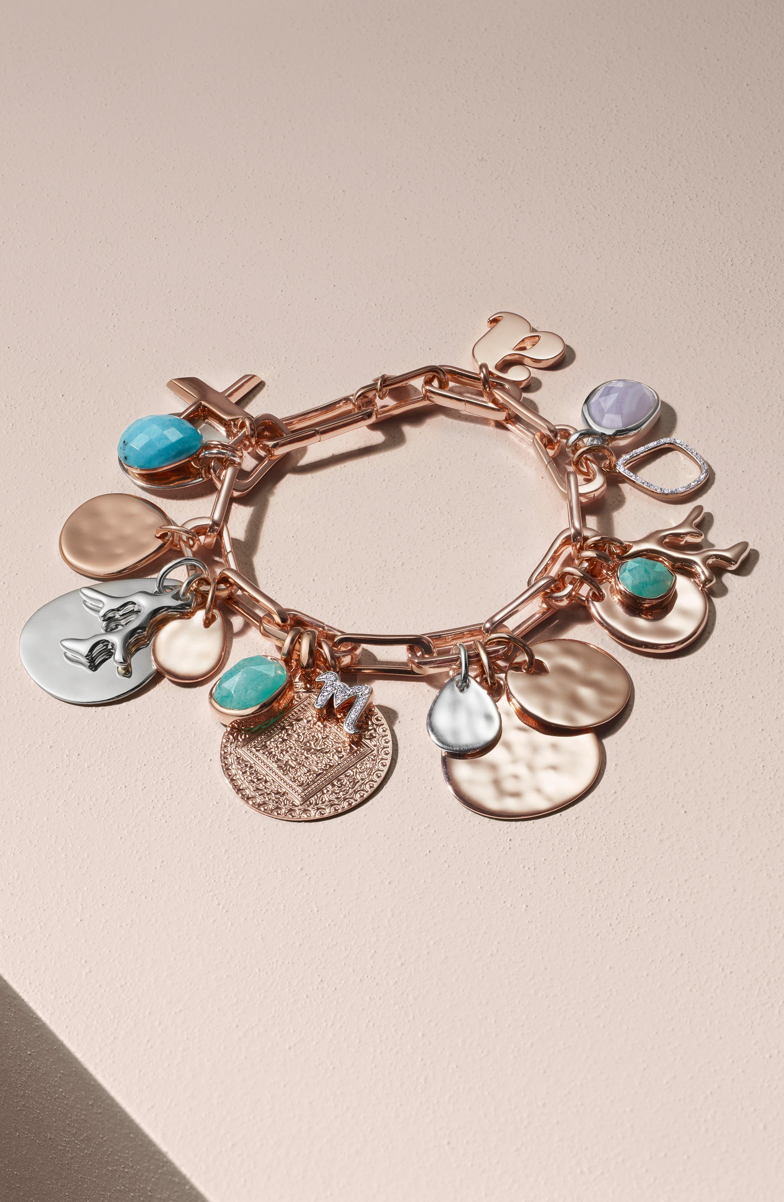 MONICA VINADER, Alta Capture Link Chain Bracelet, Alternate thumbnail 9, color, ROSE GOLD